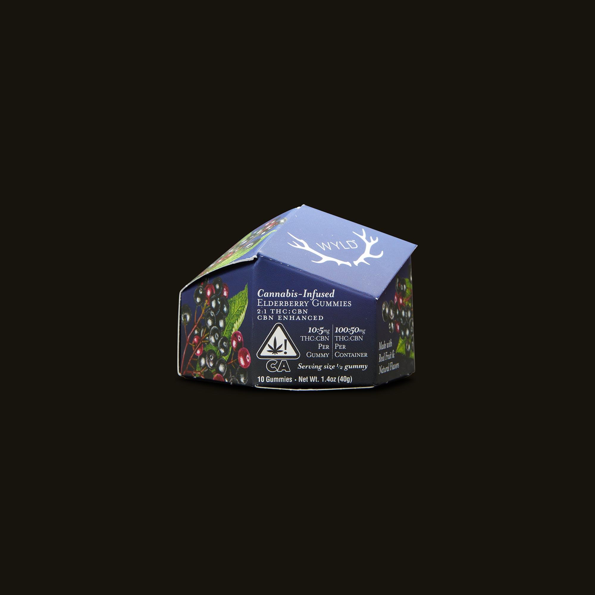 Wyld Elderberry CBN Gummies Front Packaging