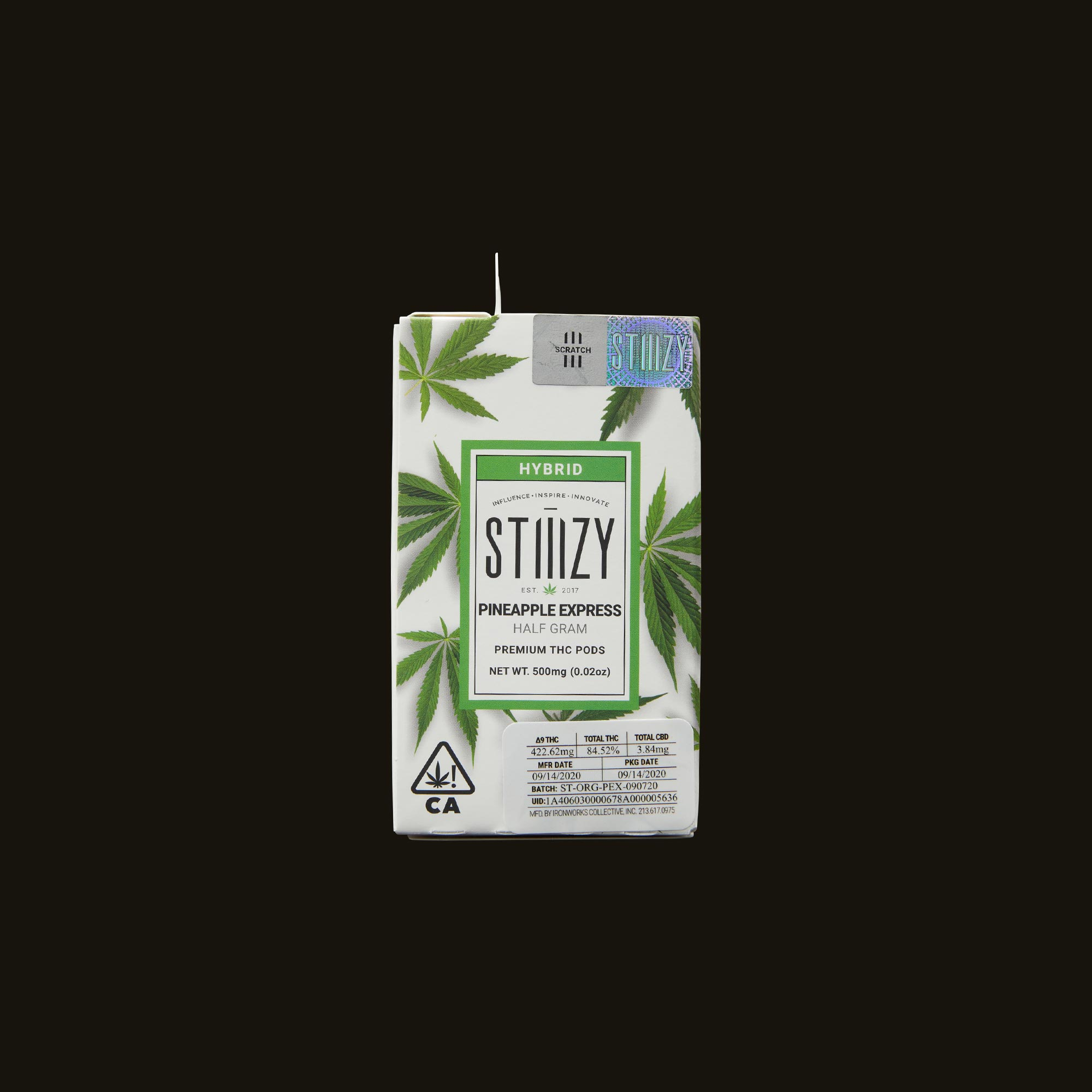 Stiiizy Pineapple Express Pod Front Packaging