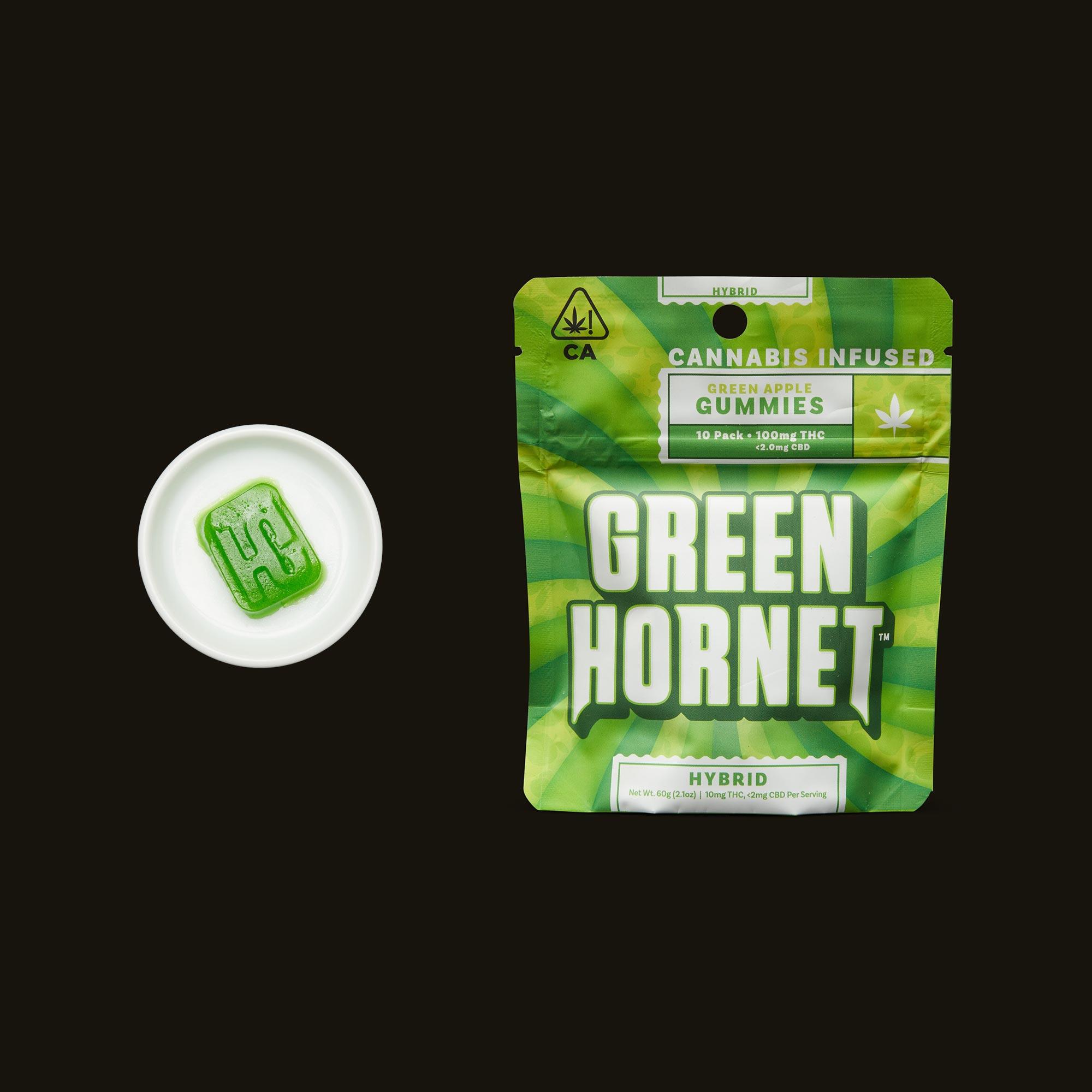Green Hornet Hybrid Green Apple Gummies