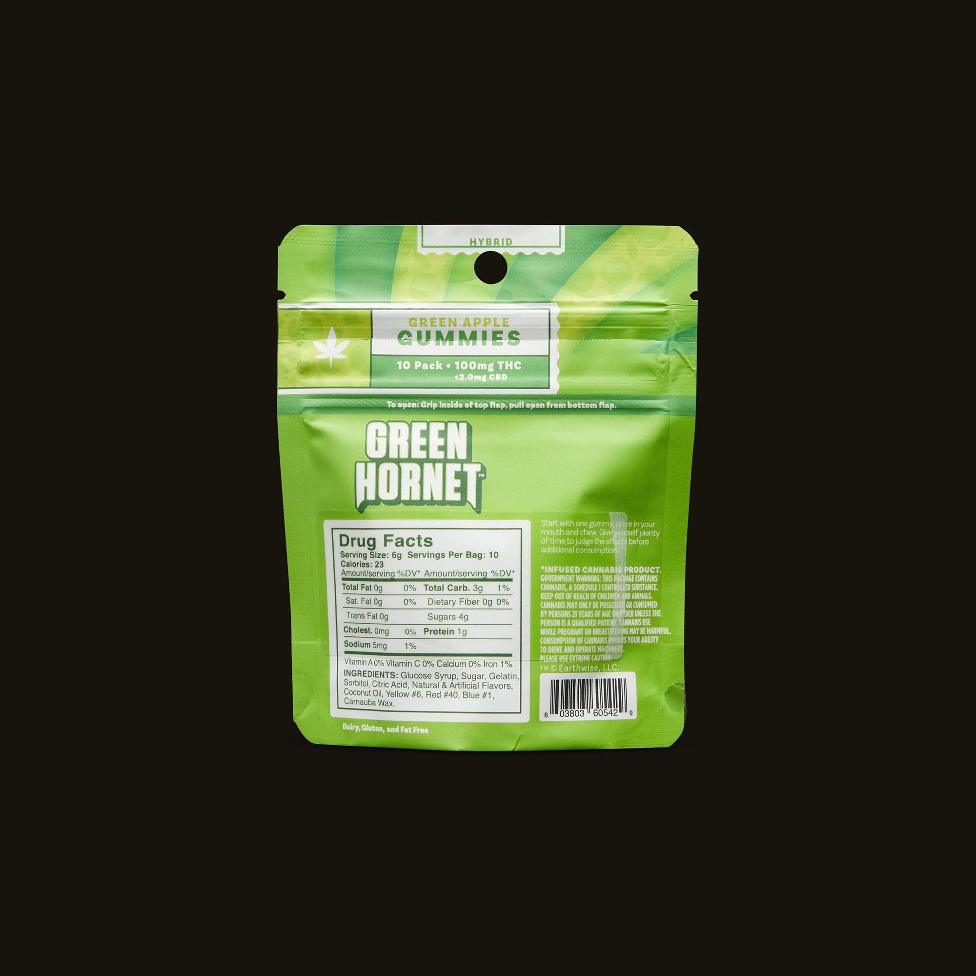 Green Hornet Hybrid Green Apple Gummies Ingredients