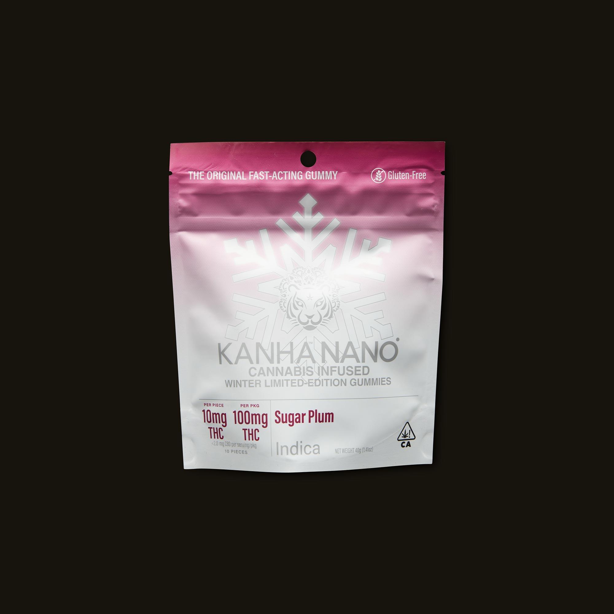 Kanha Sugar Plum Nano Gummies Front Packaging