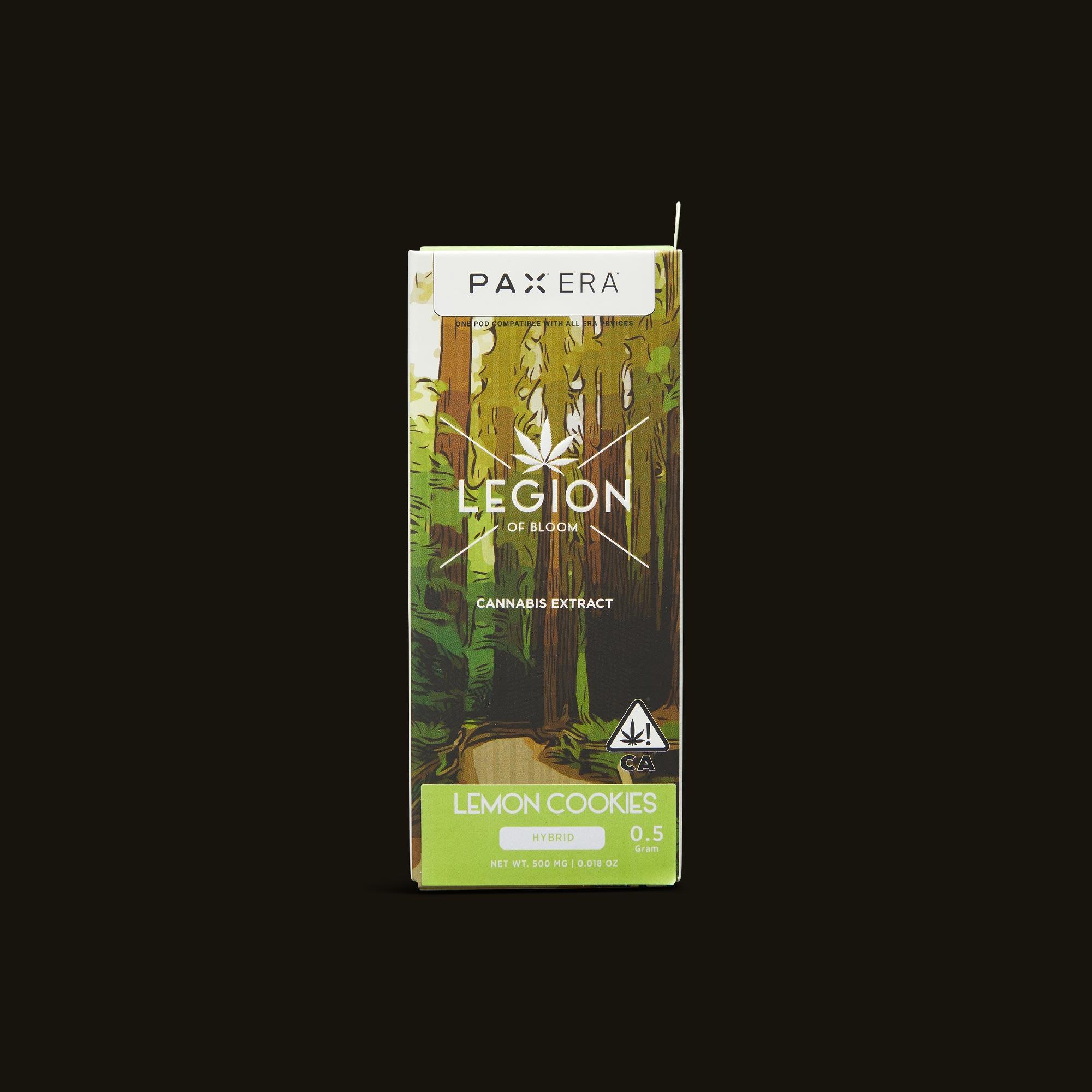 Legion of Bloom Lemon Cookies PAX Era Pod Front Packaging