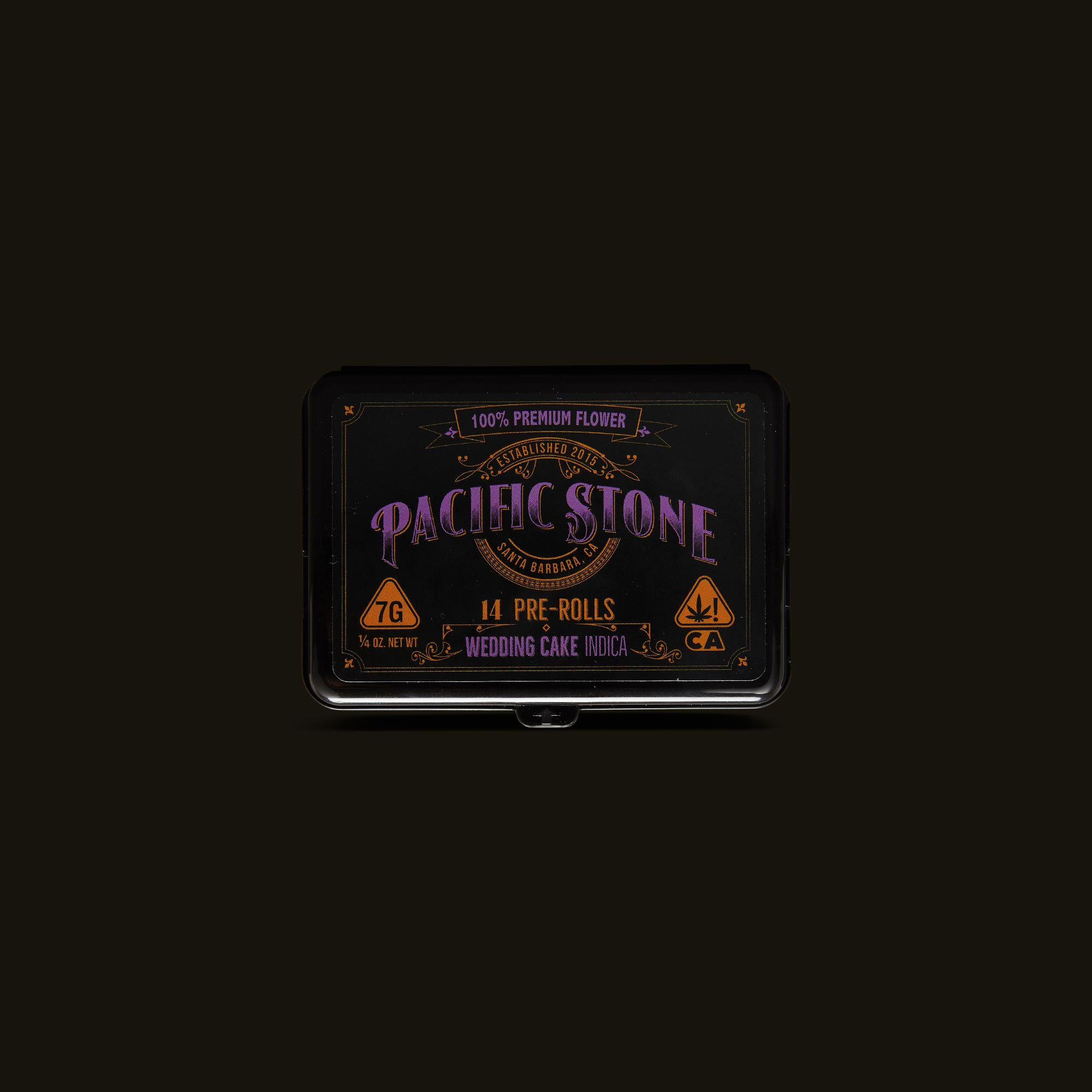 Pacific Stone Wedding Cake Pre-Roll Pack Front Packaging