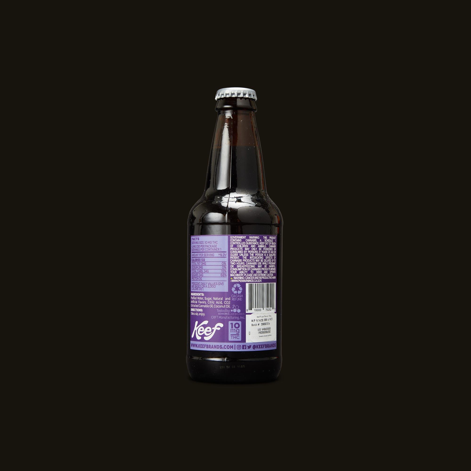 Keef Cola Purple Passion Soda Ingredients