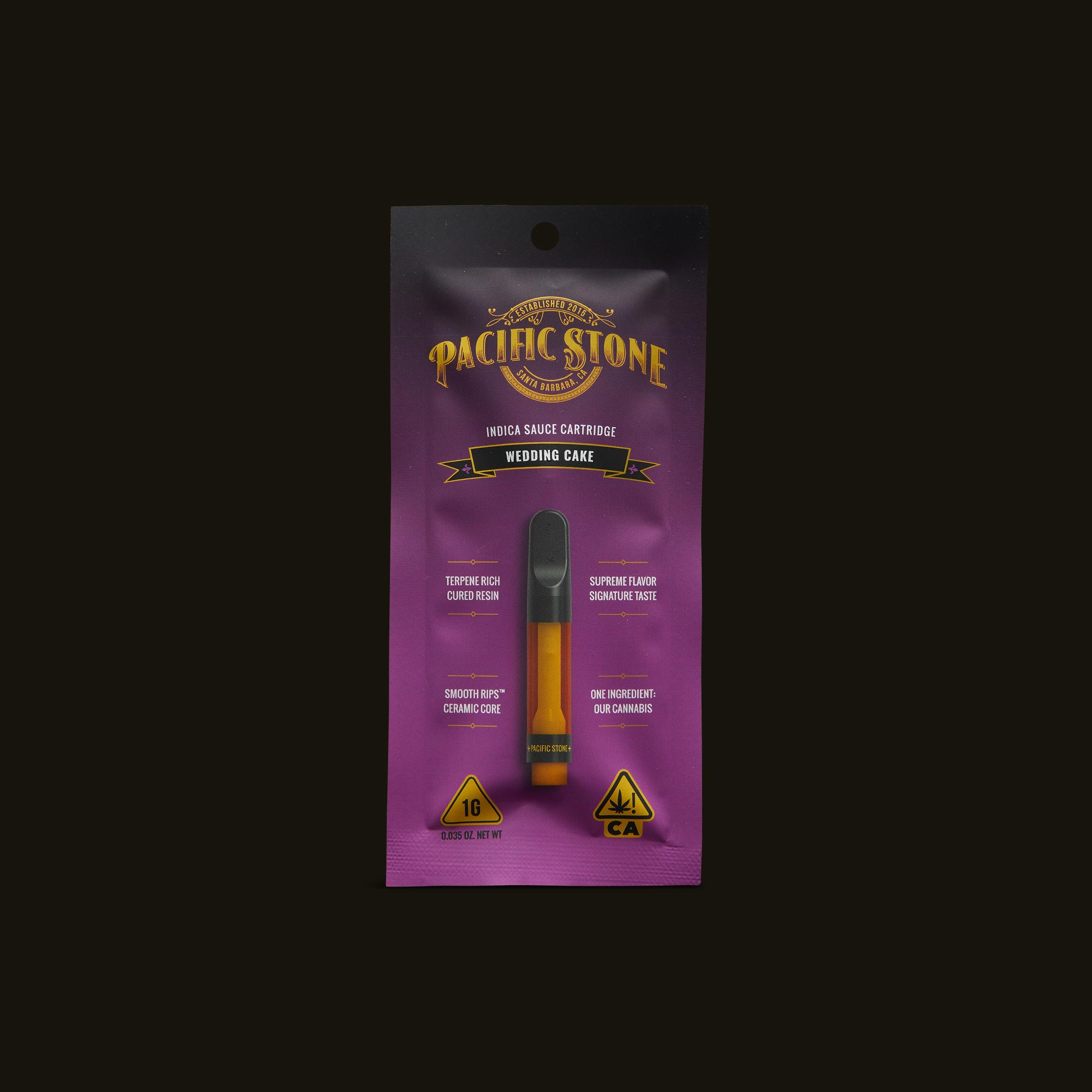 Pacific Stone Wedding Cake Sauce Cartridge Front Packaging