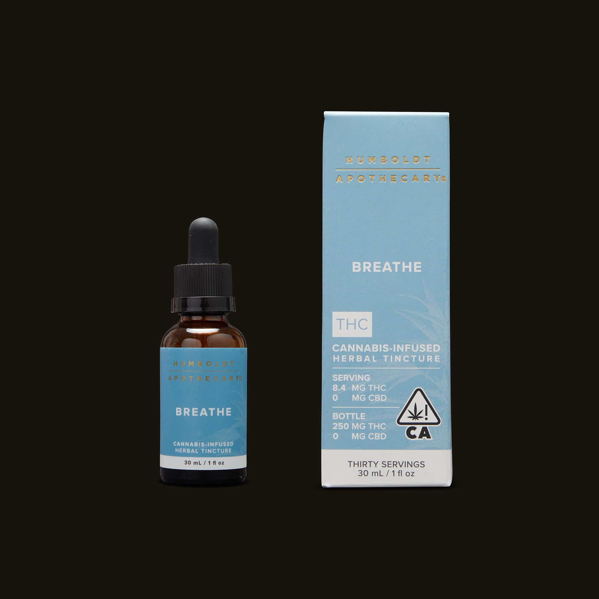 Humboldt Apothecary Breathe Tincture and Packaging