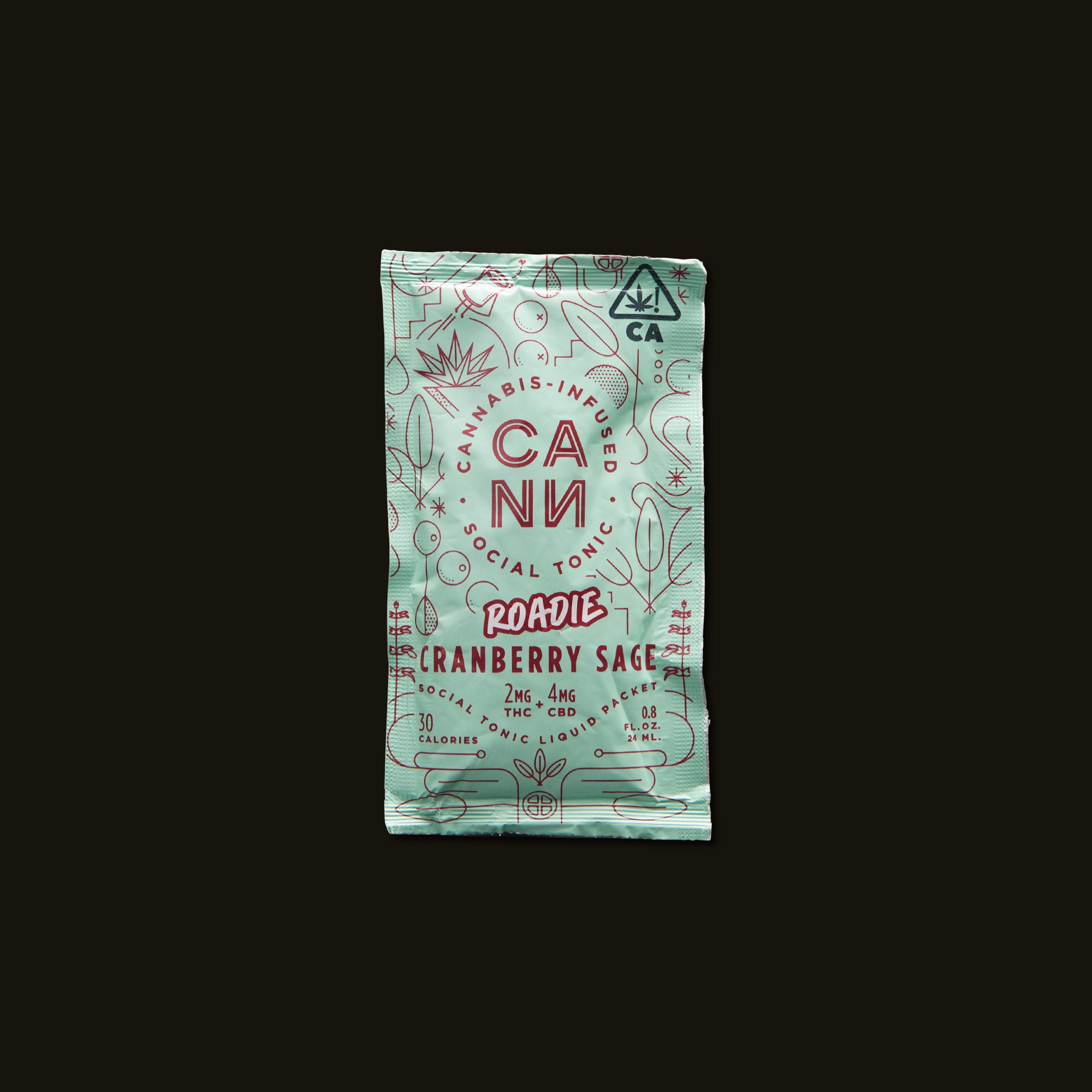 Cann Cranberry Sage Roadies Front Packaging