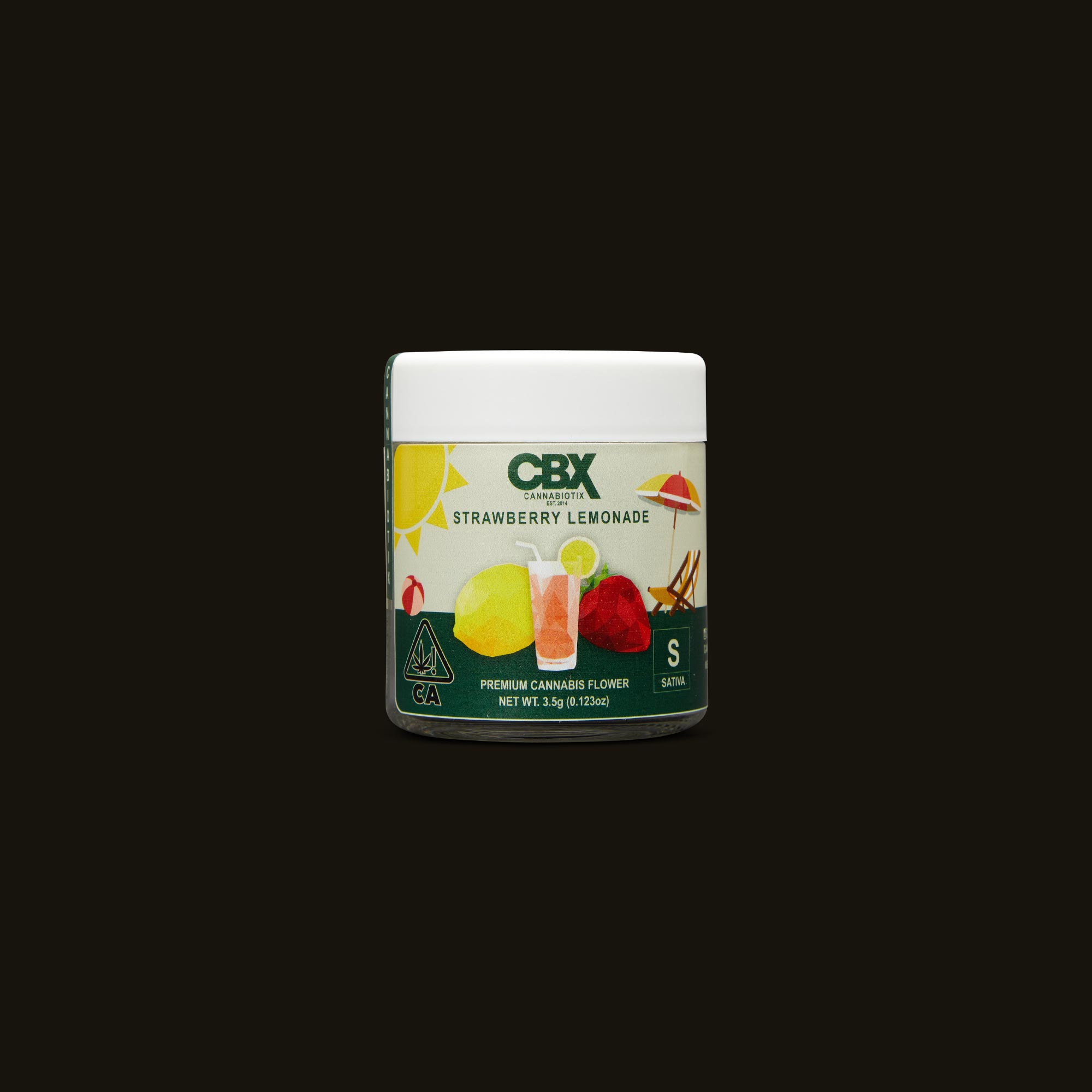 Cannabiotix (CBX) Strawberry Lemonade Front Jar