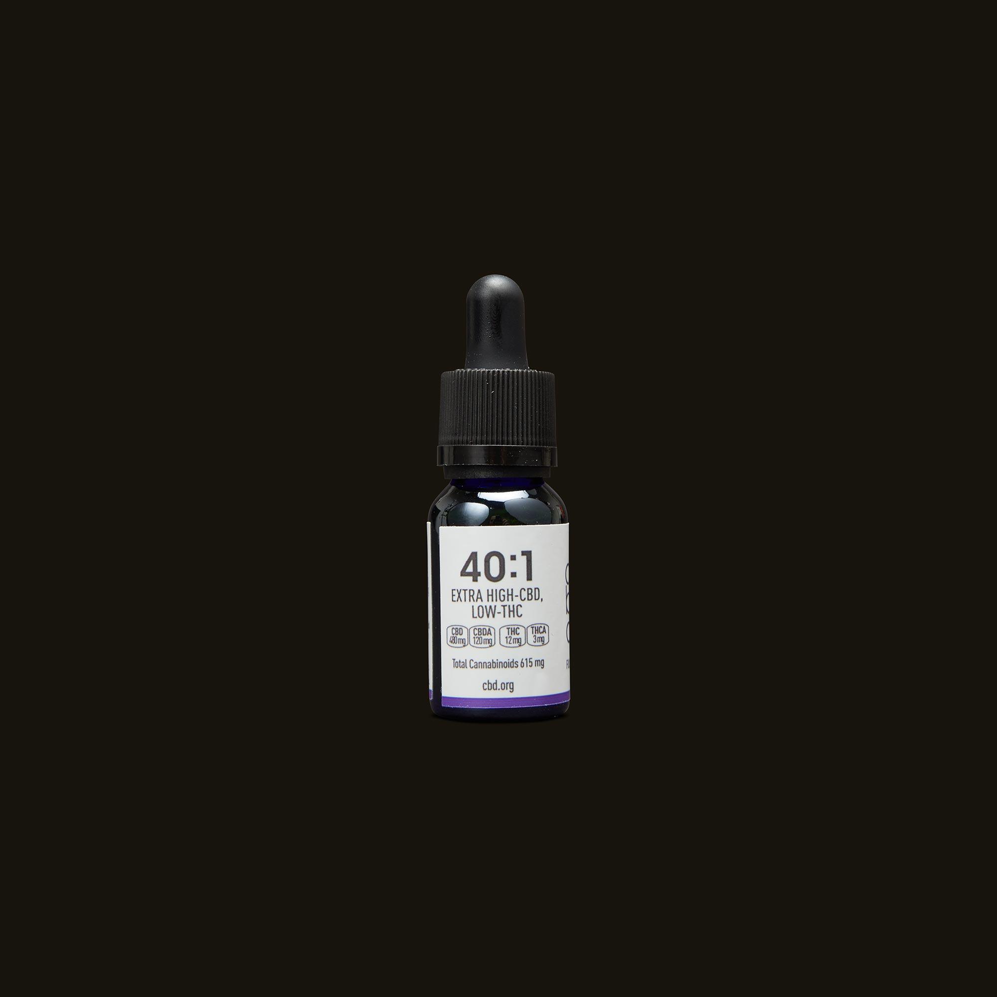 Care By Design 40:1 Full Spectrum CBD Drops - 0.5oz Back Tincture