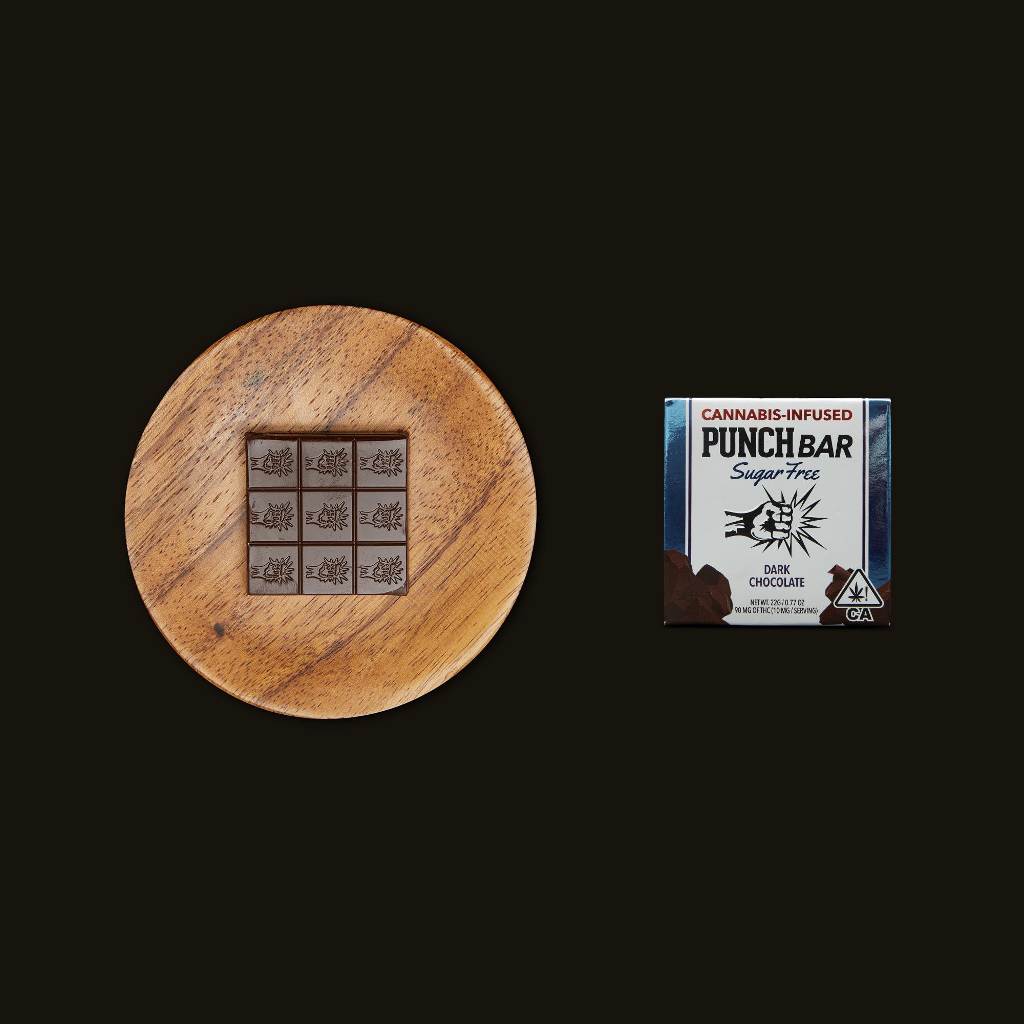 Punch Edibles PUNCH BAR Sugar Free Dark Chocolate