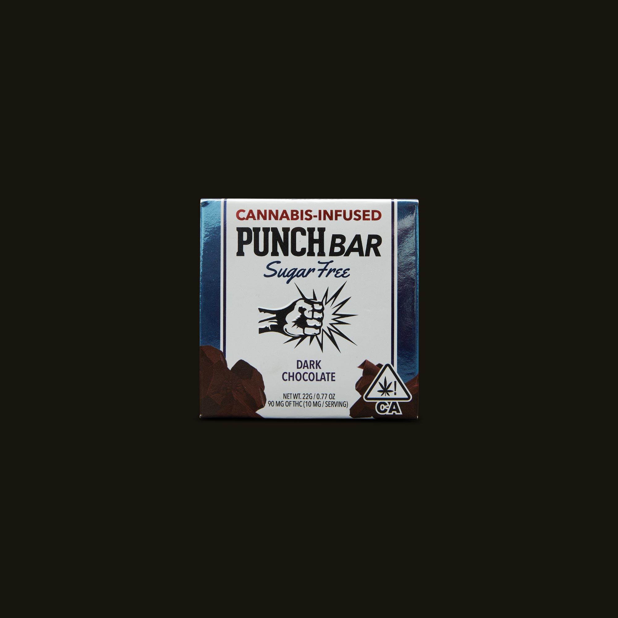 Punch Edibles PUNCH BAR Sugar Free Dark Chocolate Front Packaging