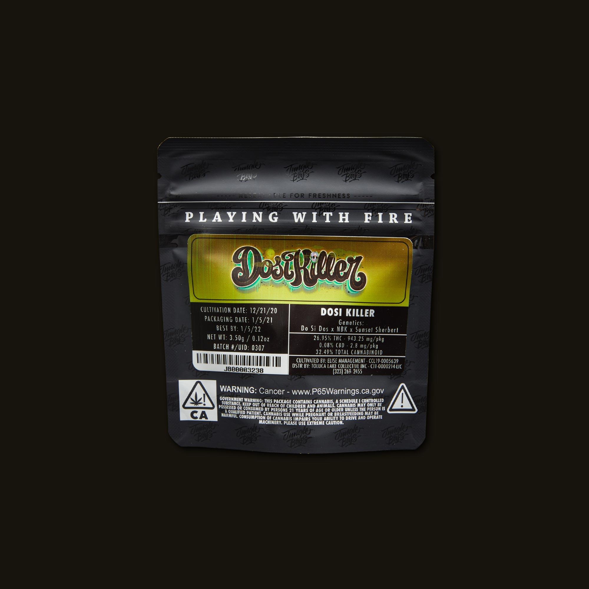 Jungle Boys Dosi Killer Back Packaging