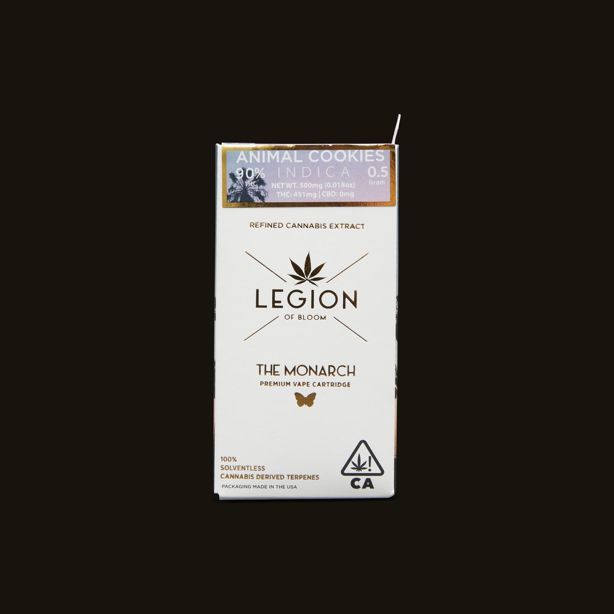 Legion of Bloom Animal Cookies Monarch .5g Front Packaging