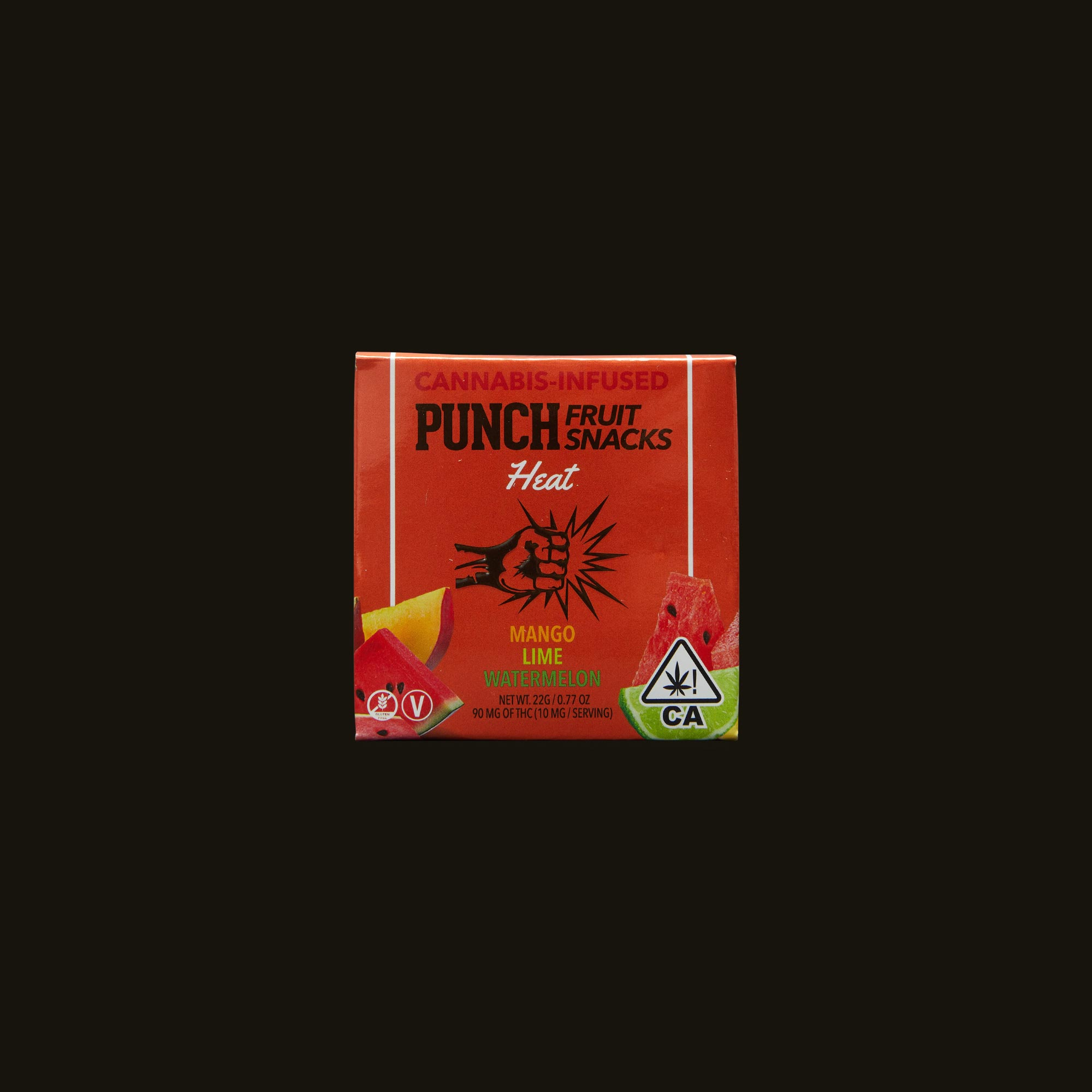 Punch Edibles Punch Fruit Snacks Heat Front Packaging