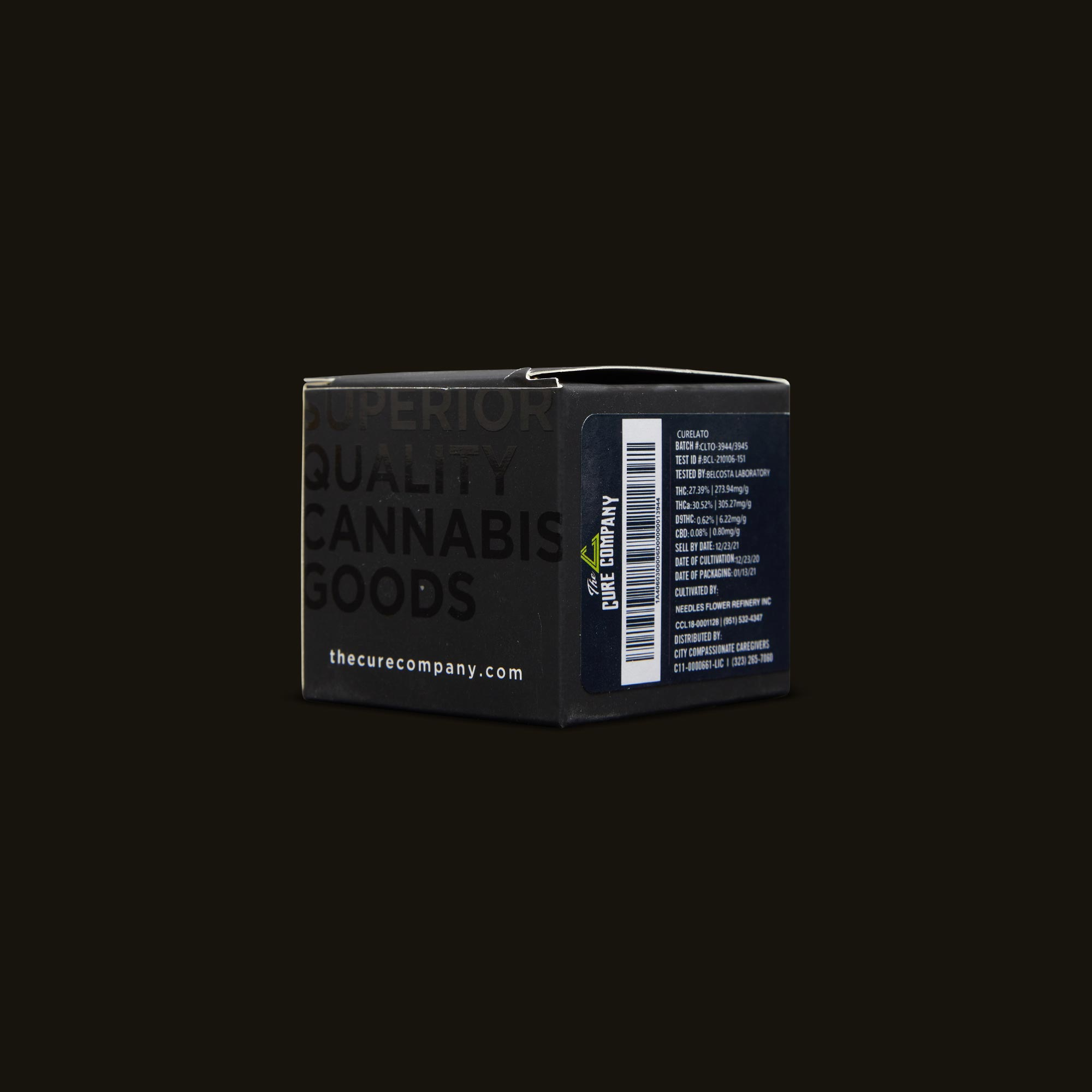 The Cure Company Curelato Back Packaging