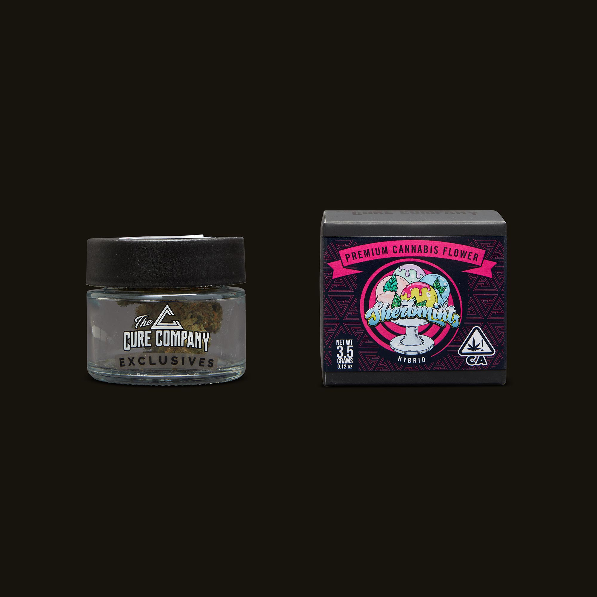The Cure Company Sherbmints Jar and Packaging