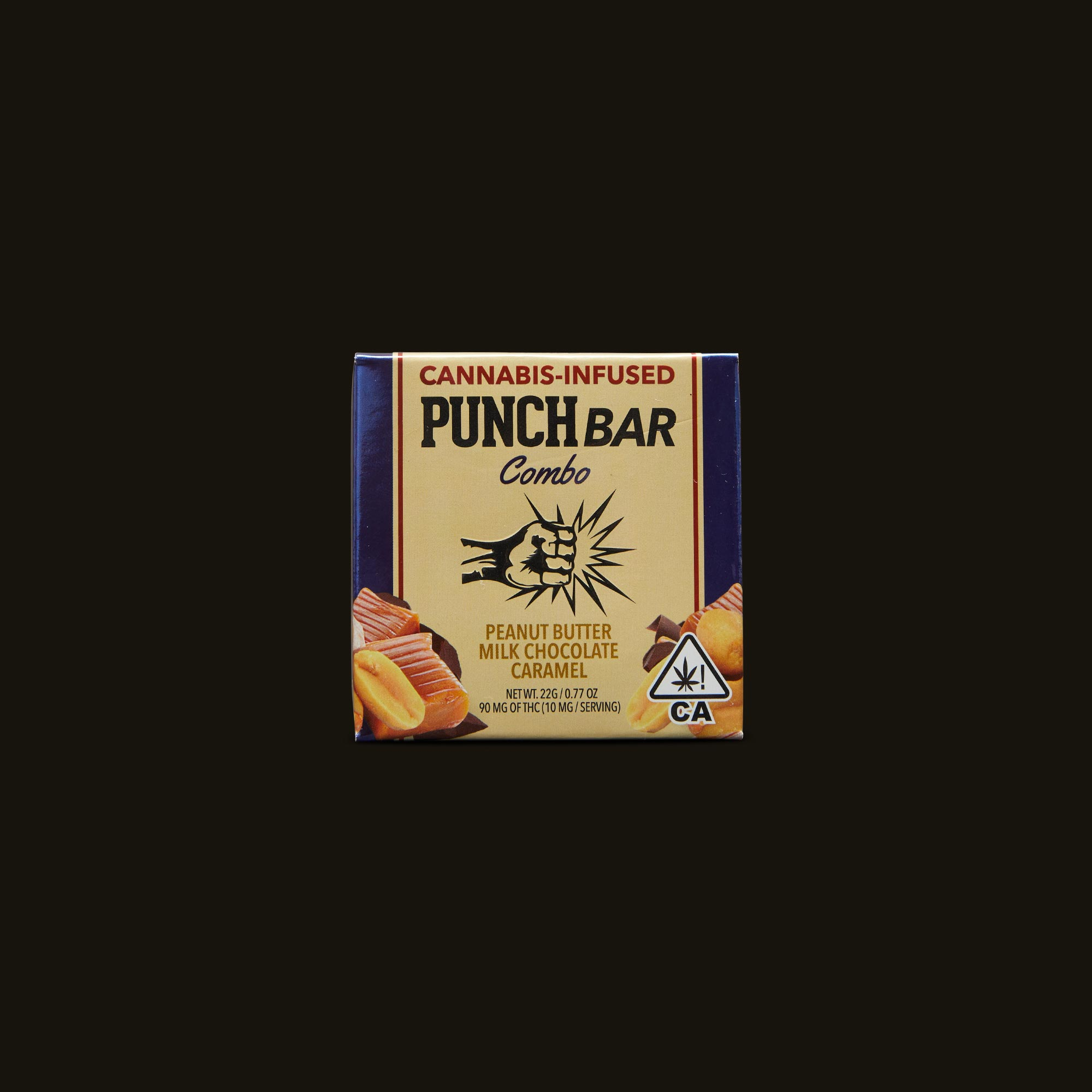 Punch Edibles PUNCH Combo Peanut Butter Milk Chocolate Caramel Front Packaging