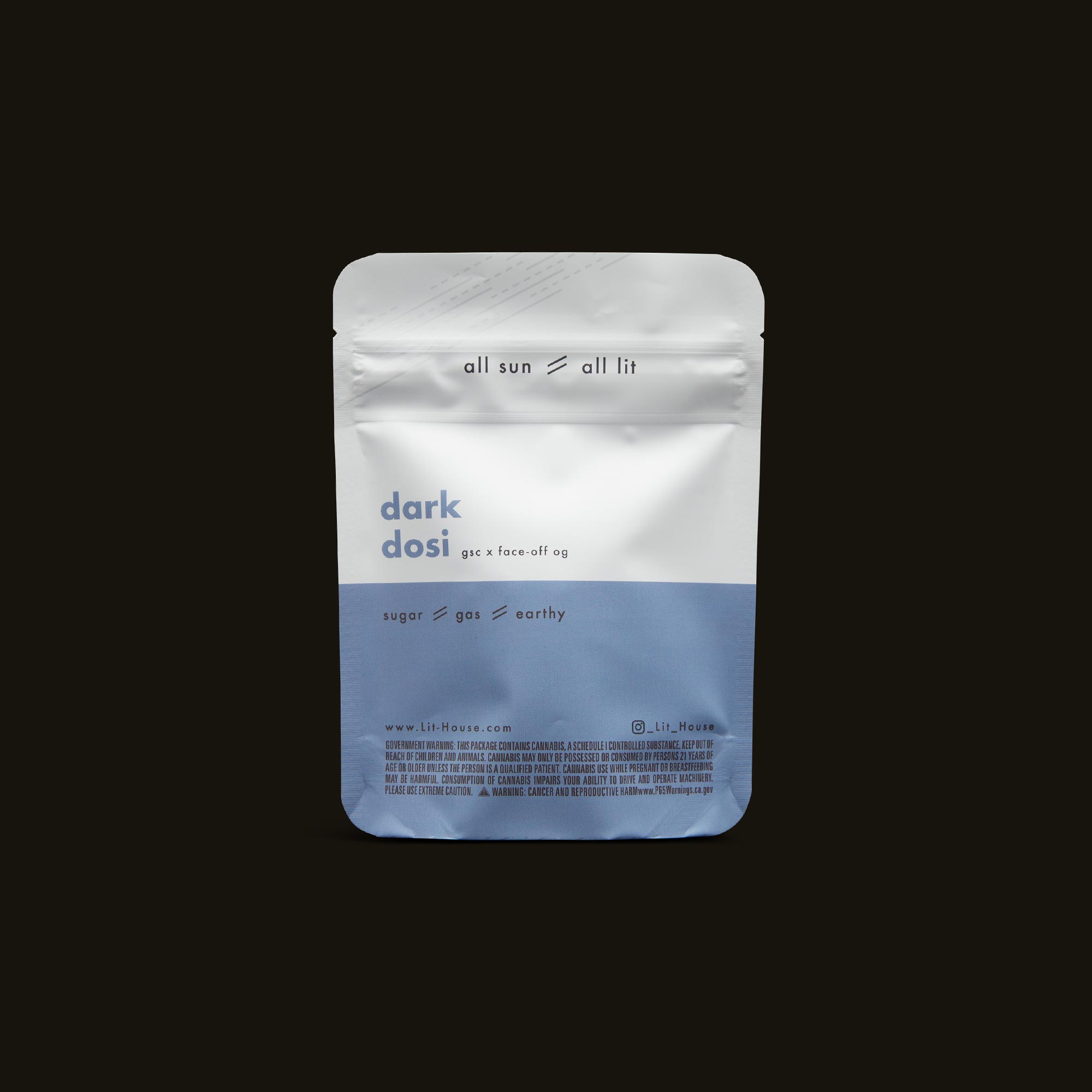 LitHouse All Sun - Dark Dosi Back Packaging
