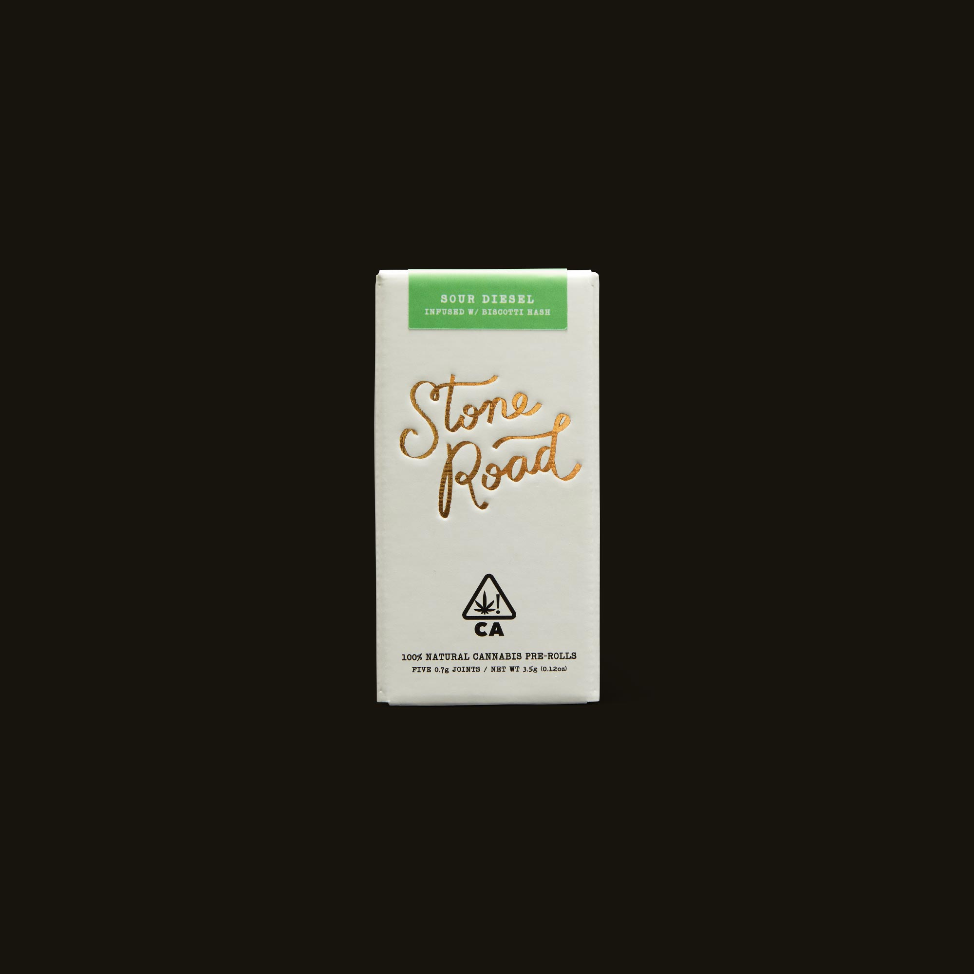 Stone Road Sour Diesel Infused Pre-Roll Pack Front Box
