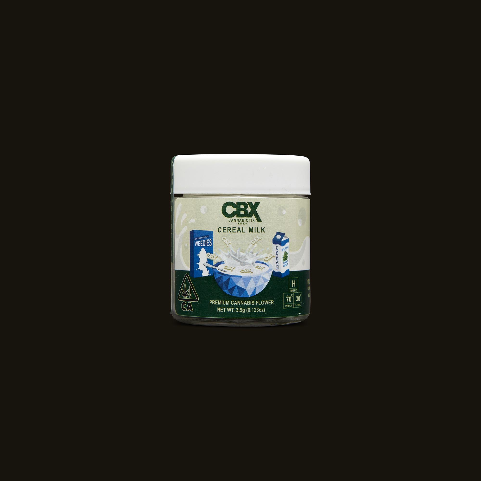 Cannabiotix CBX Cereal Milk Front Packaging