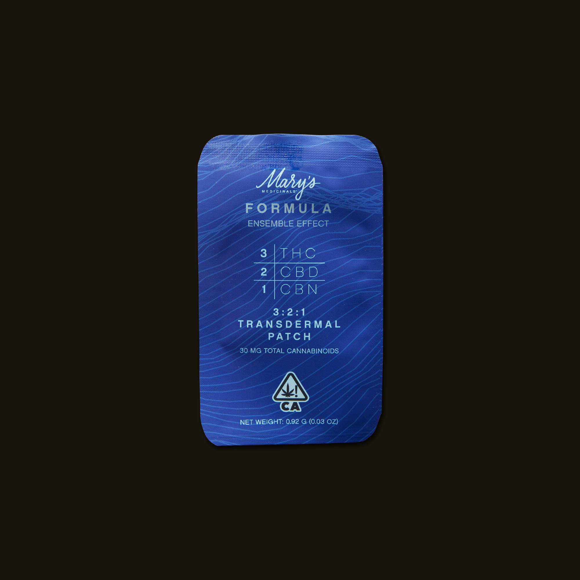 Mary's Medicinals Formula Patch Front Packaging
