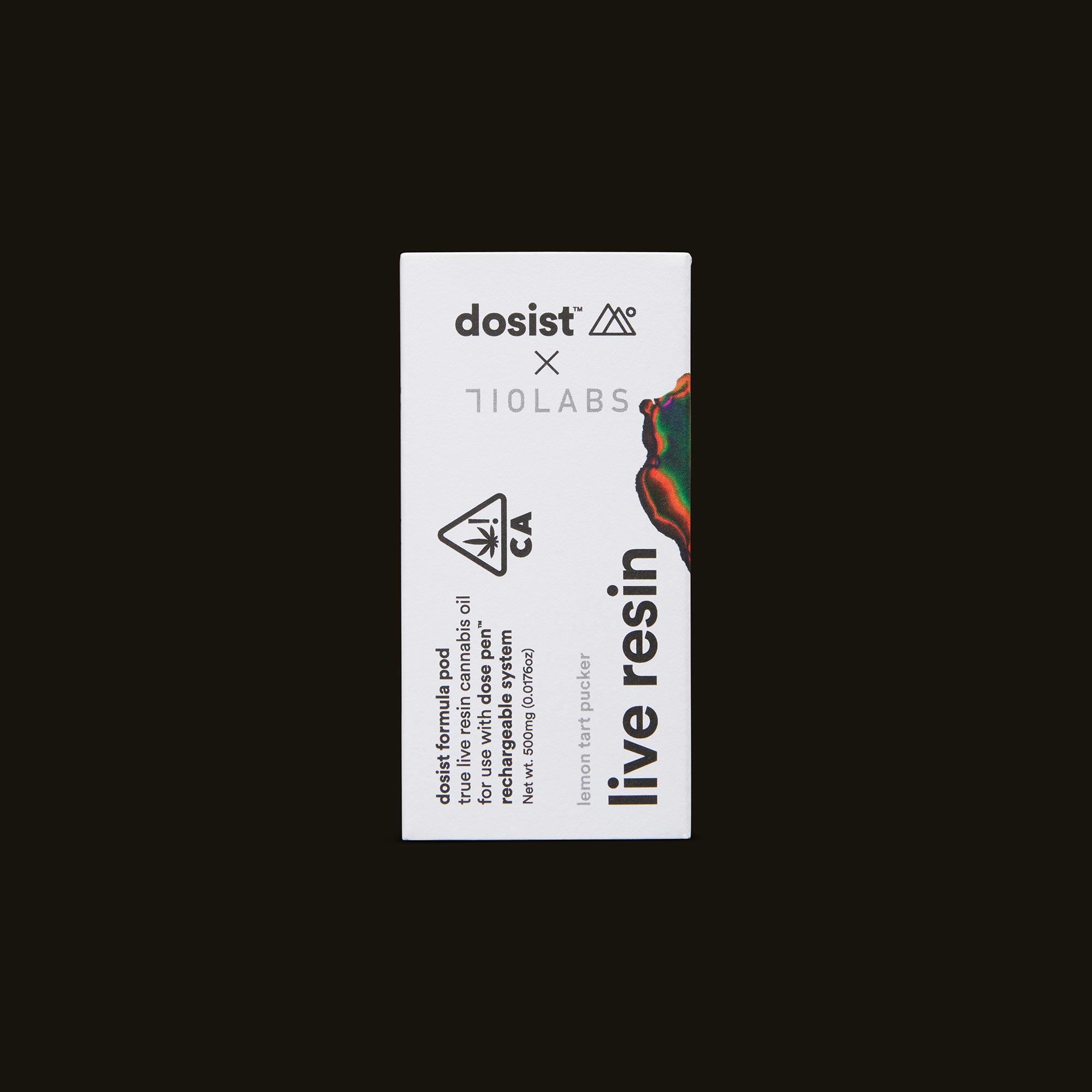 dosist Lemon Tart Pucker Live Resin formula pod Front Packaging