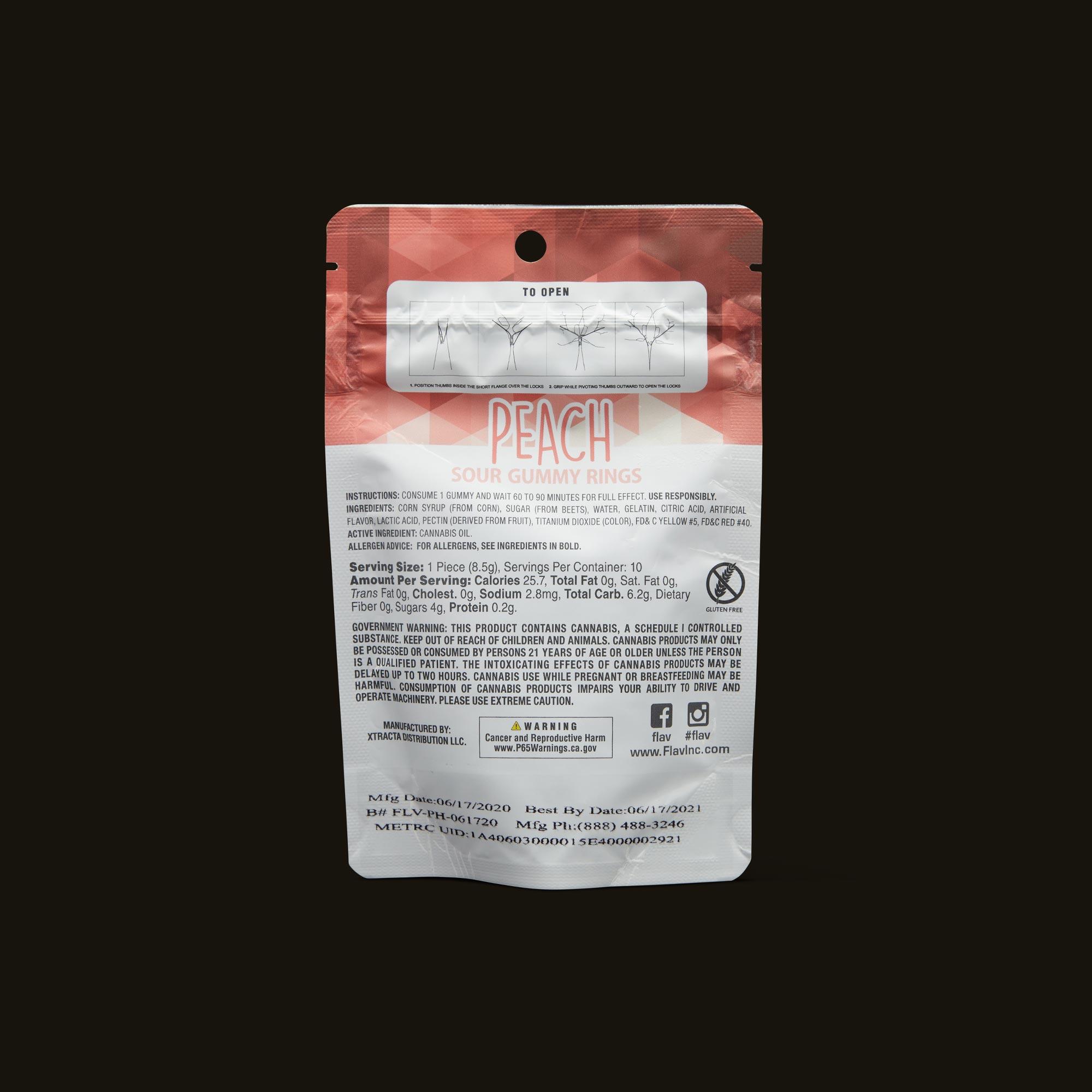 Flav Sour Peach Rings Ingredients