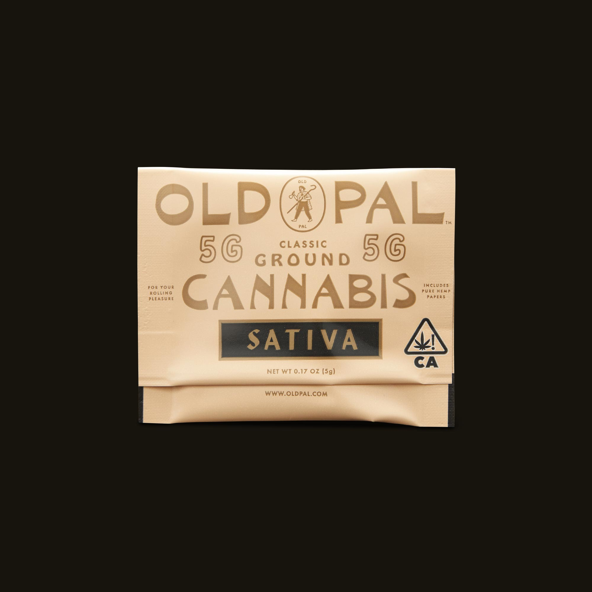OLD PAL Sativa 5g Ready to Roll Front Packaging