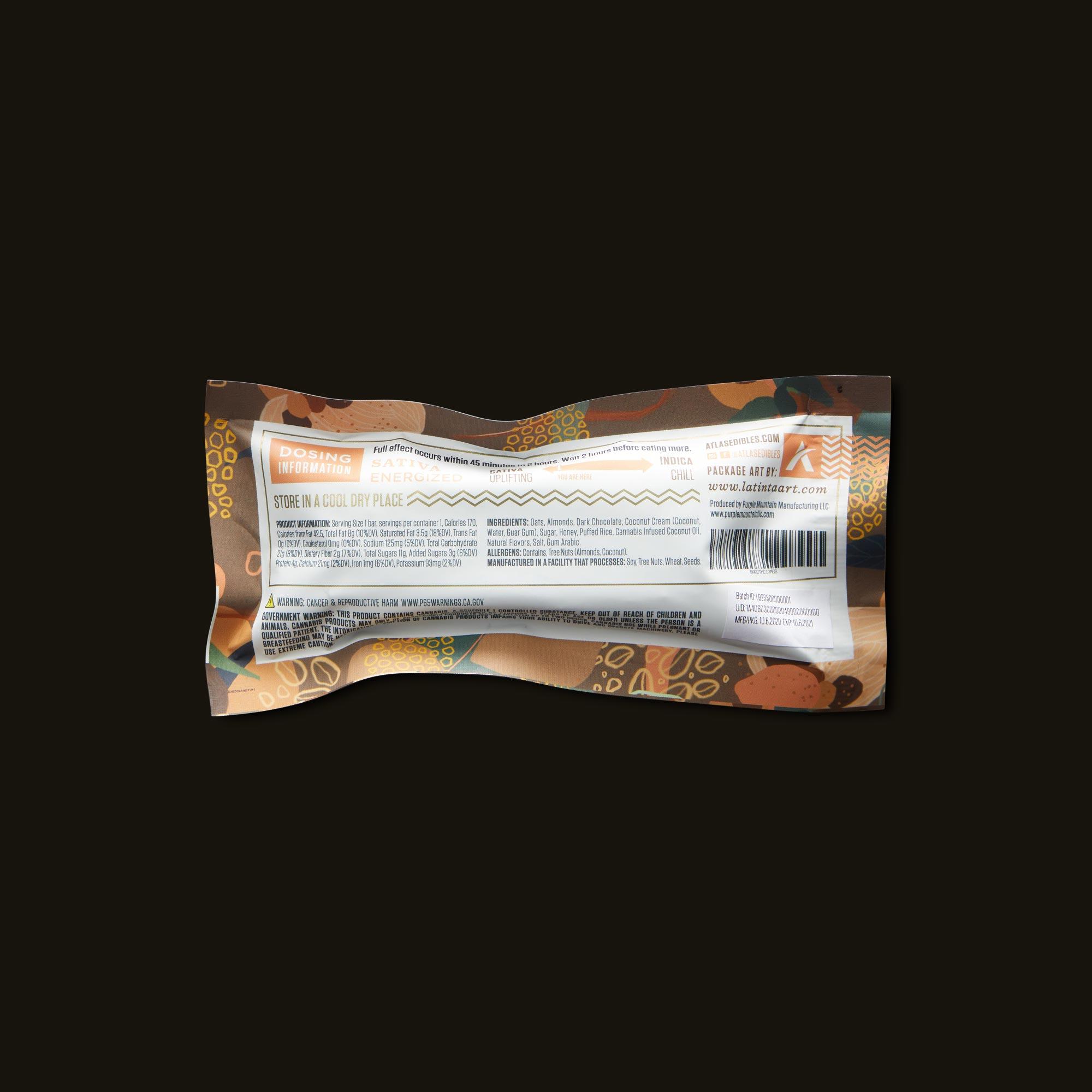 Atlas Edibles Lift Granola Bar Ingredients