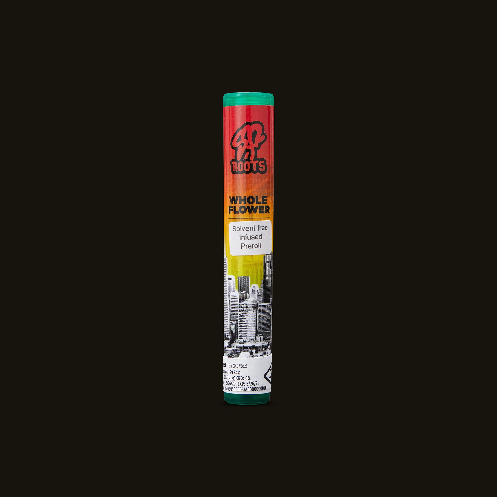 SF Roots Sherbert Infused Pre-Roll Front Packaging