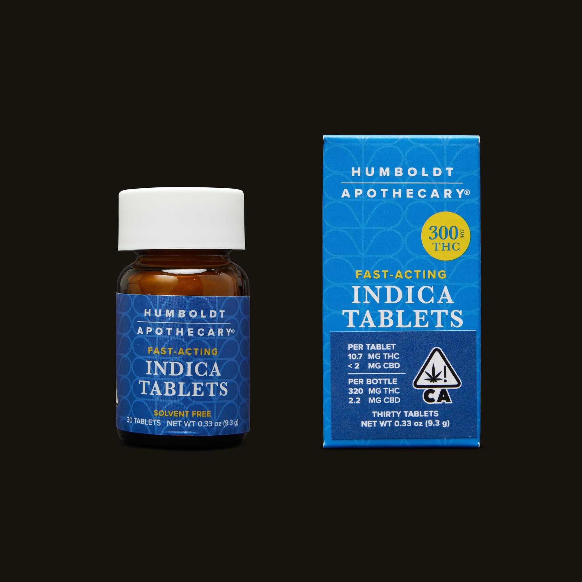 Humboldt Apothecary Indica Tablets Bottle and Packaging