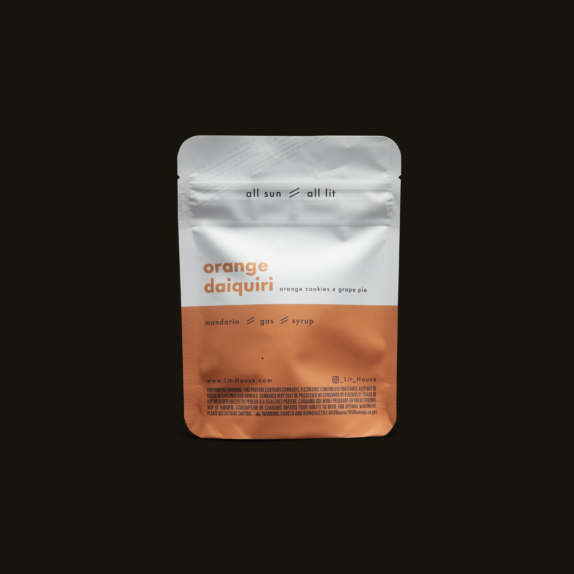 LitHouse All Sun - Orange Daiquiri Back Packaging
