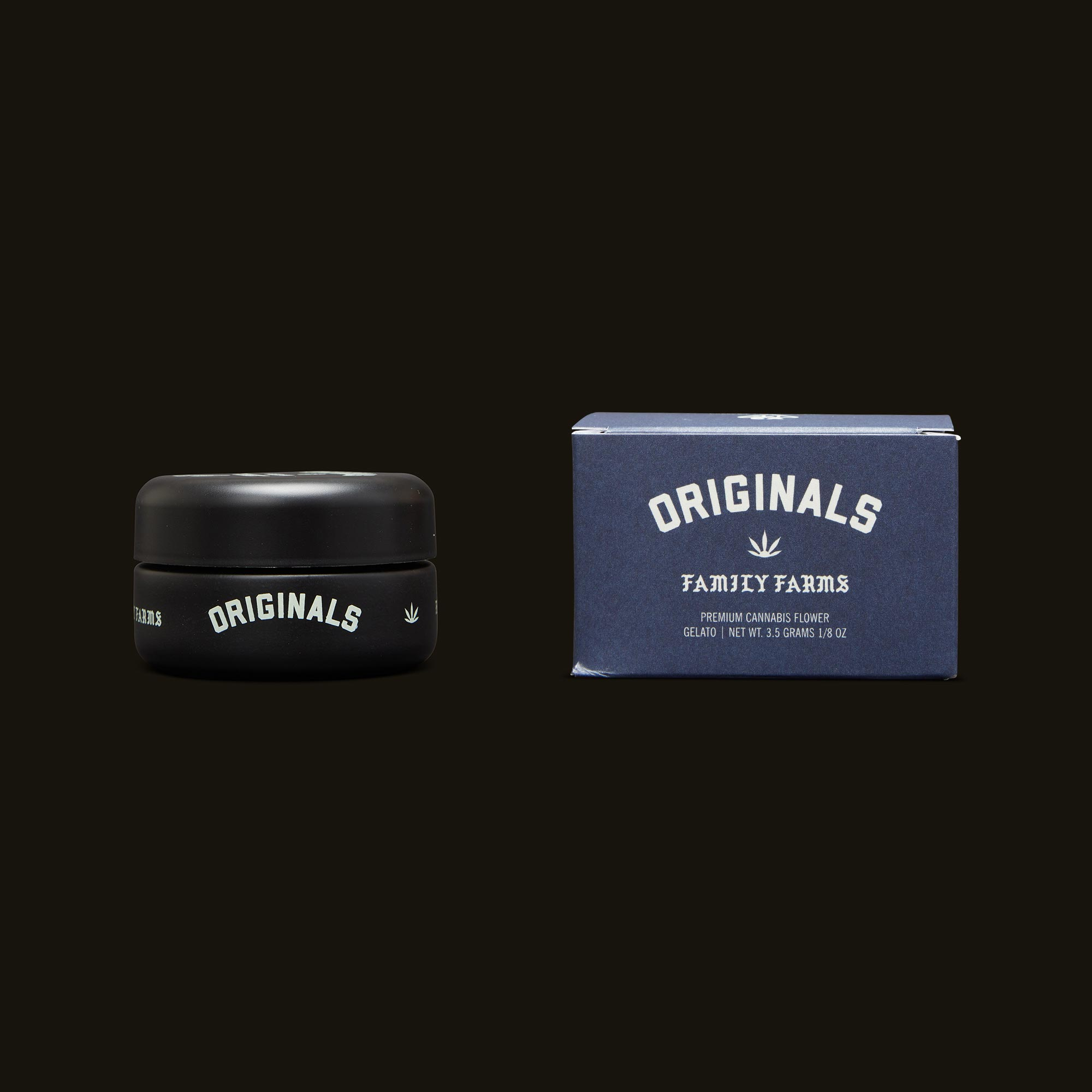Originals Gelato Jar and Packaging
