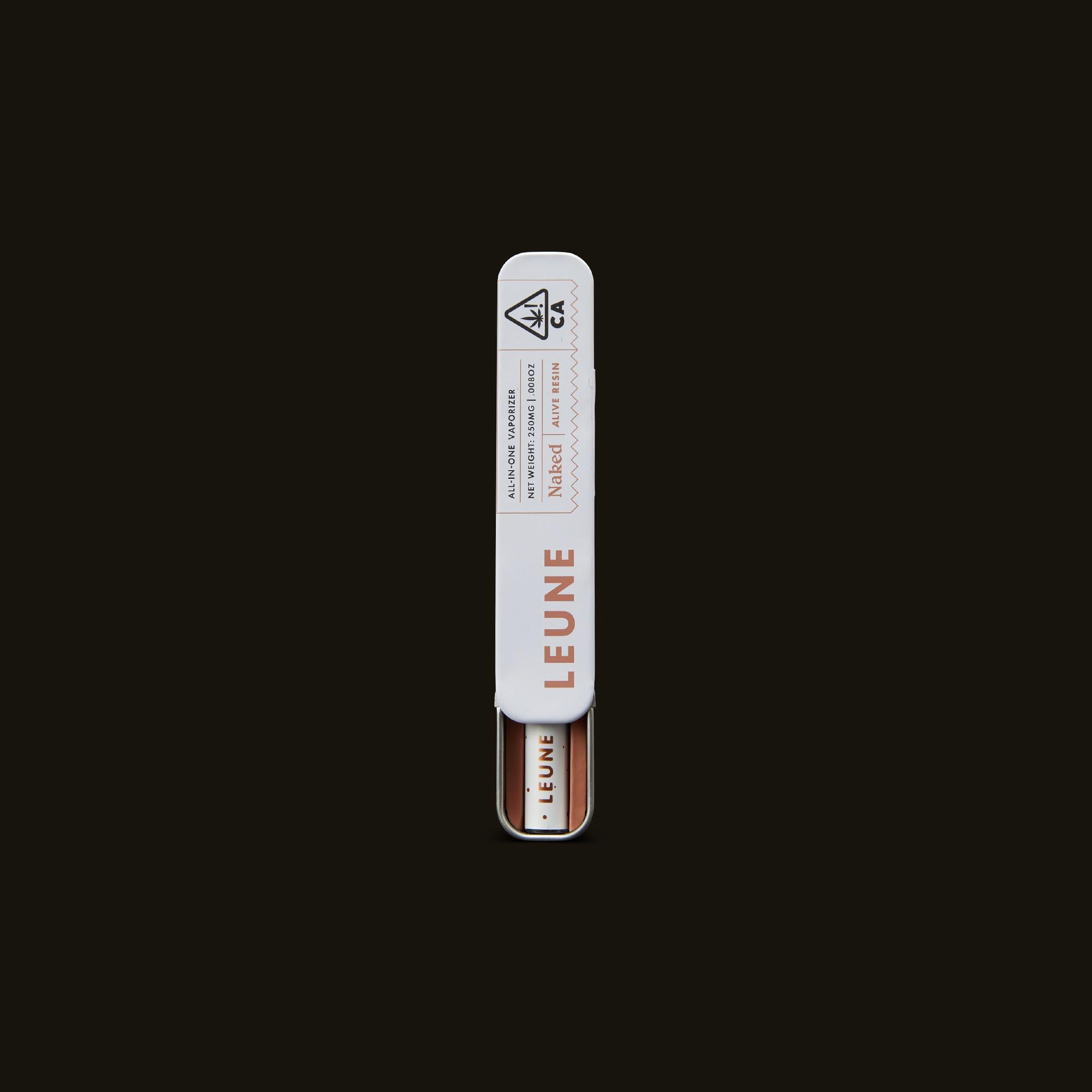LEUNE Naked Tangie Live Resin Open Packaging