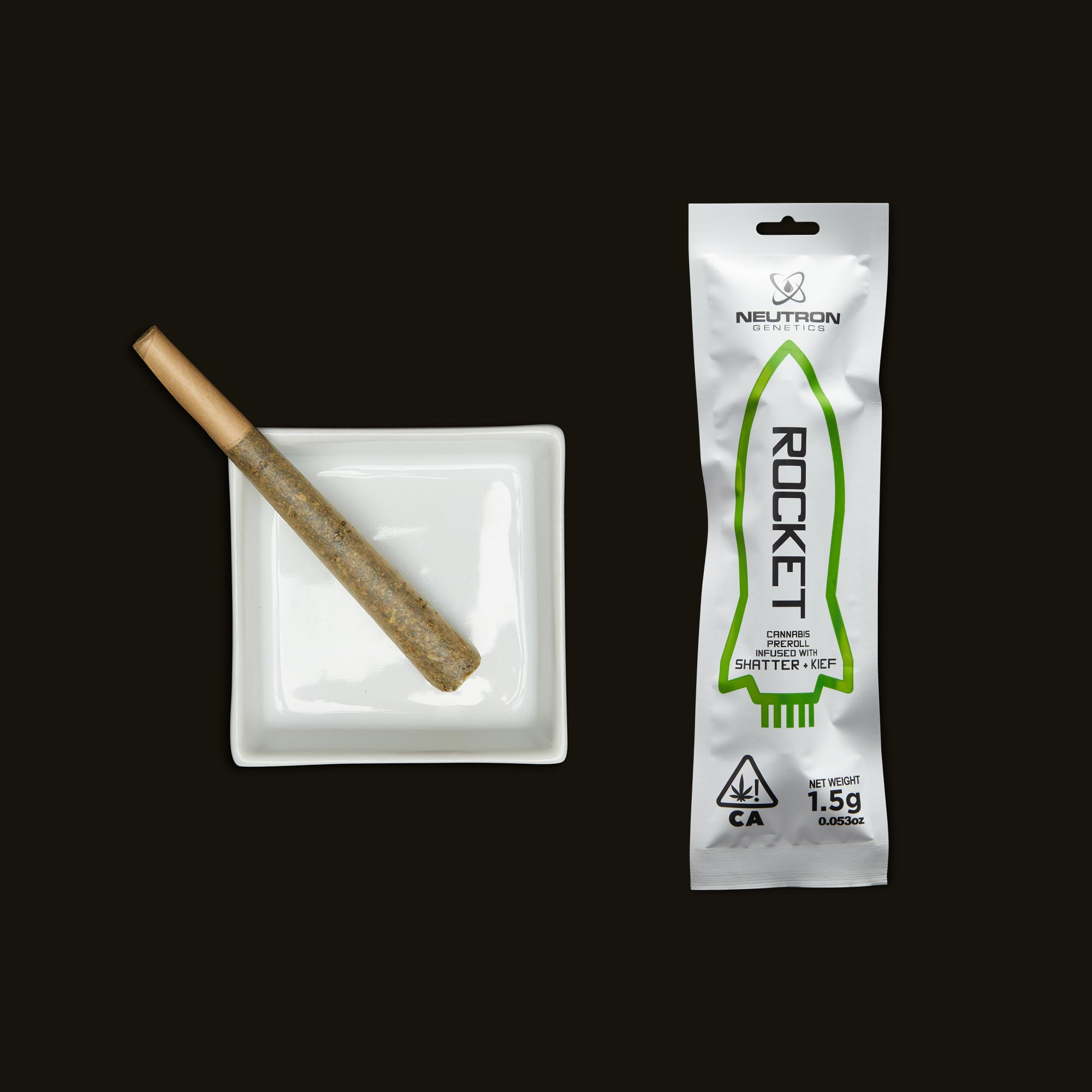 Neutron Genetics Rocket Infused Indica Shatter Preroll