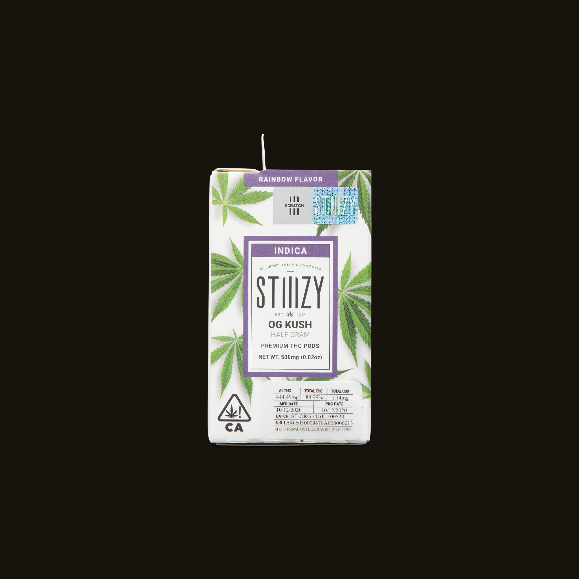 Stiiizy OG Kush Pod Front Packaging
