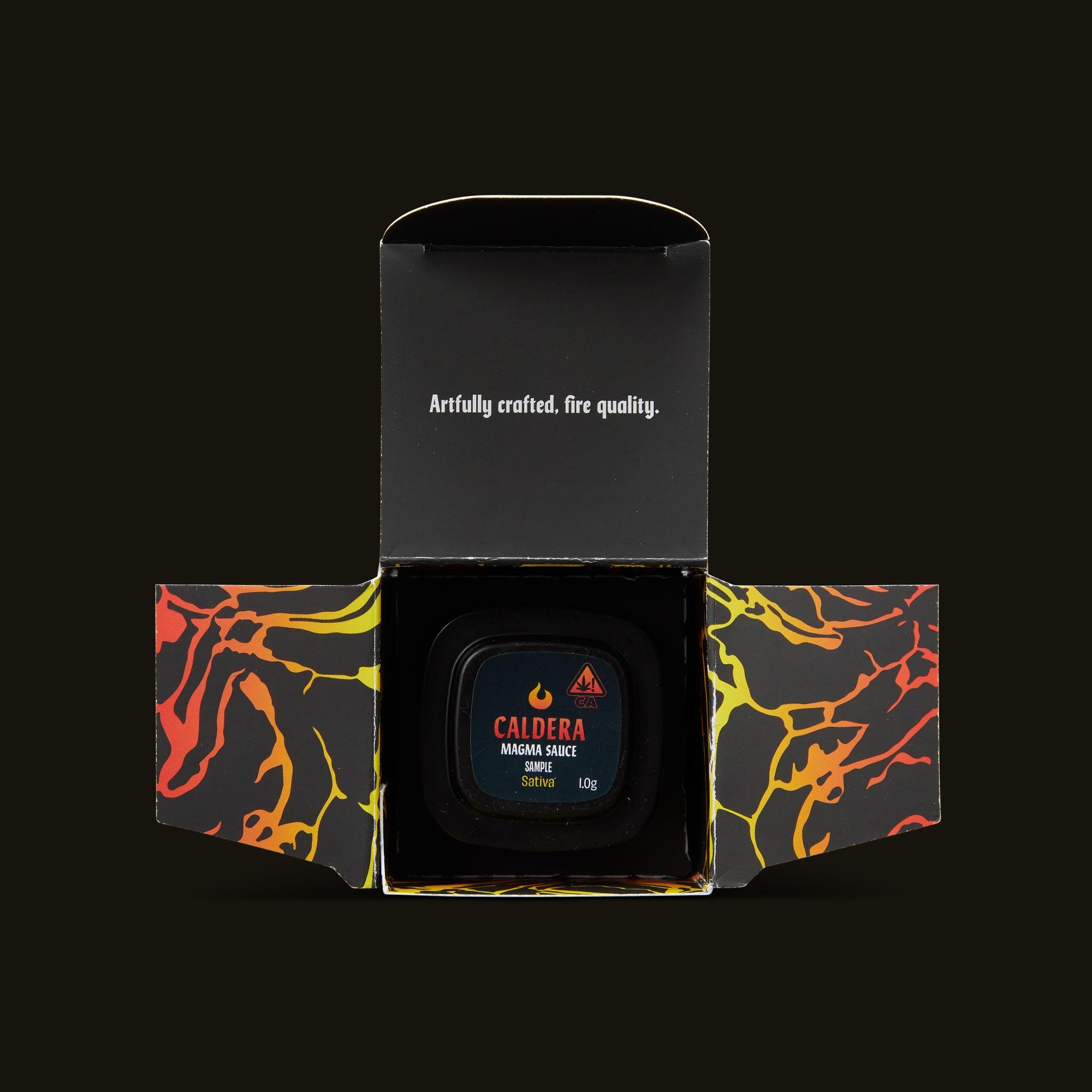 Caldera Sativa Sauce Open Packaging