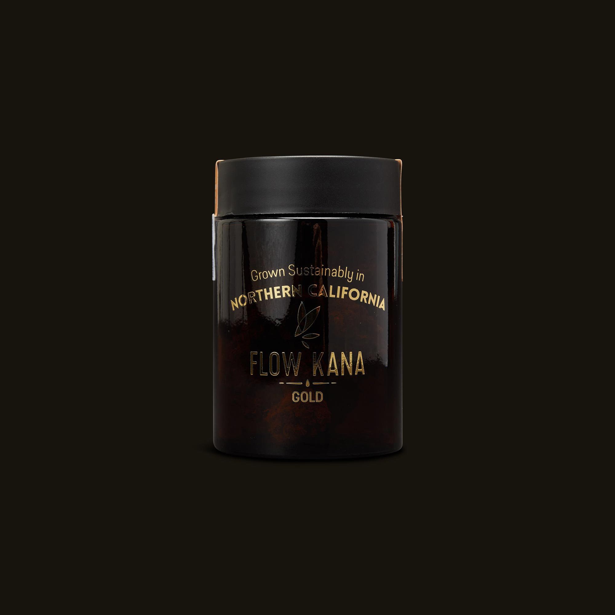 Flow Kana Sativa Gold Quarters Front Jar