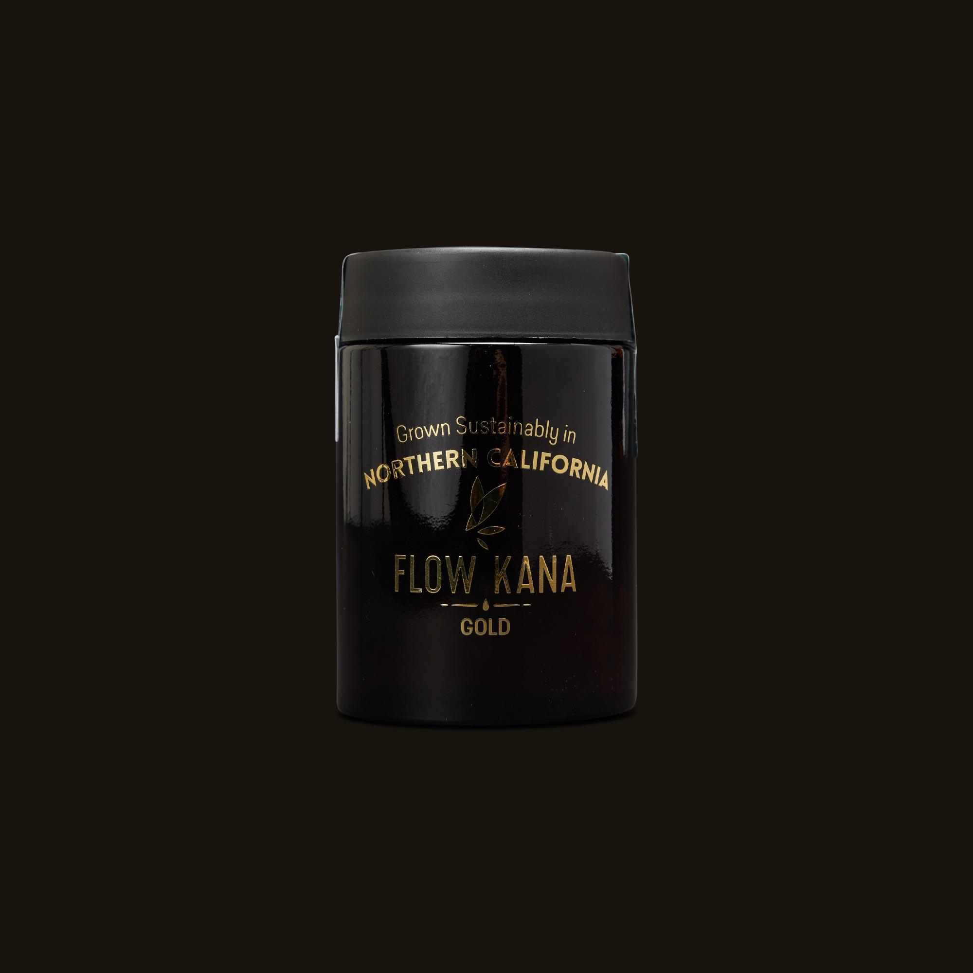 Flow Kana Hybrid Gold Quarters Front Jar