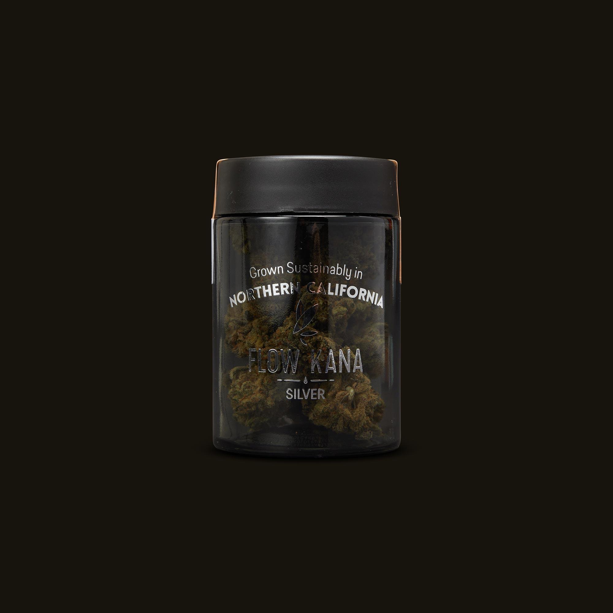 Flow Kana Sativa Silver Quarters Front Jar