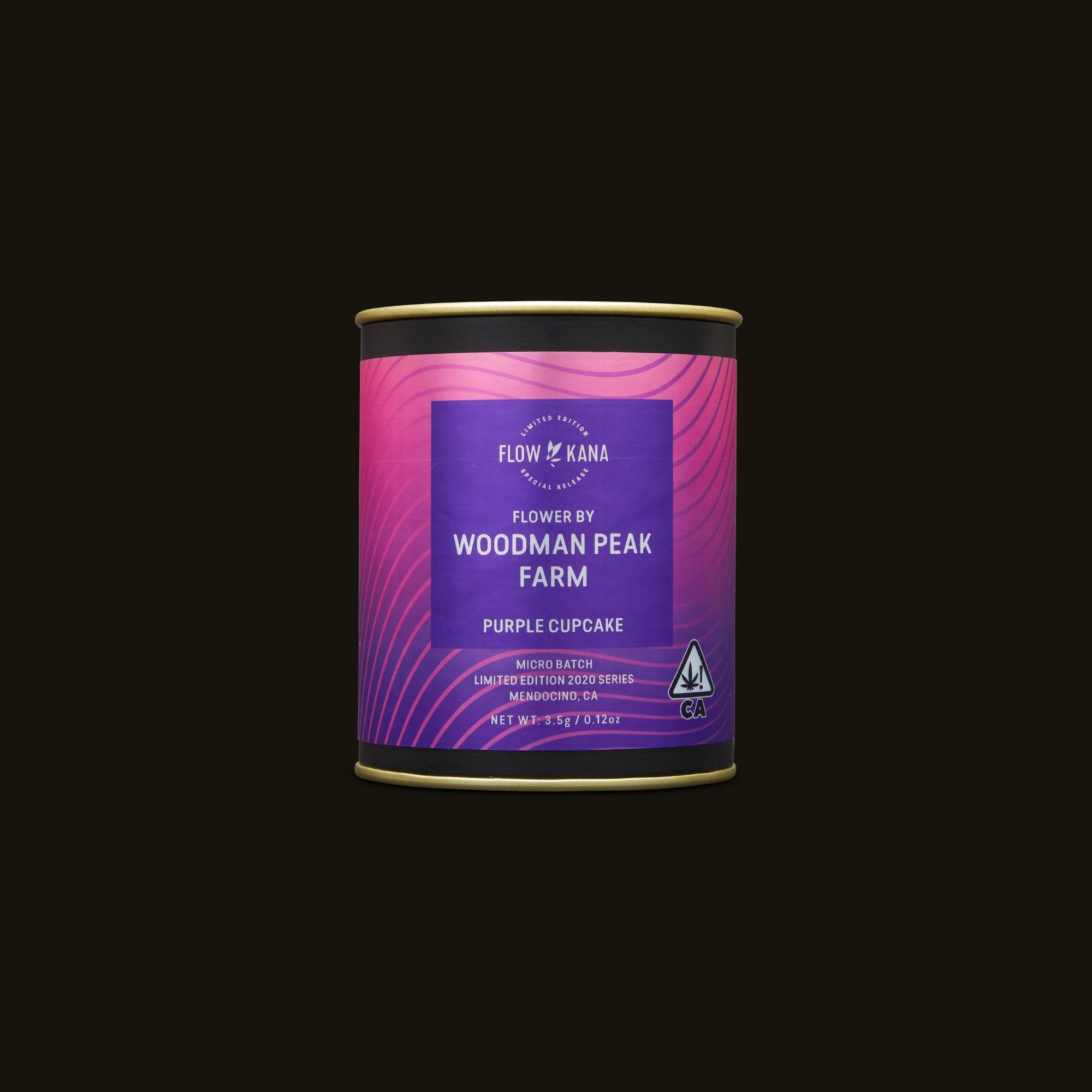 Flow Kana Purple Cupcake Packaging