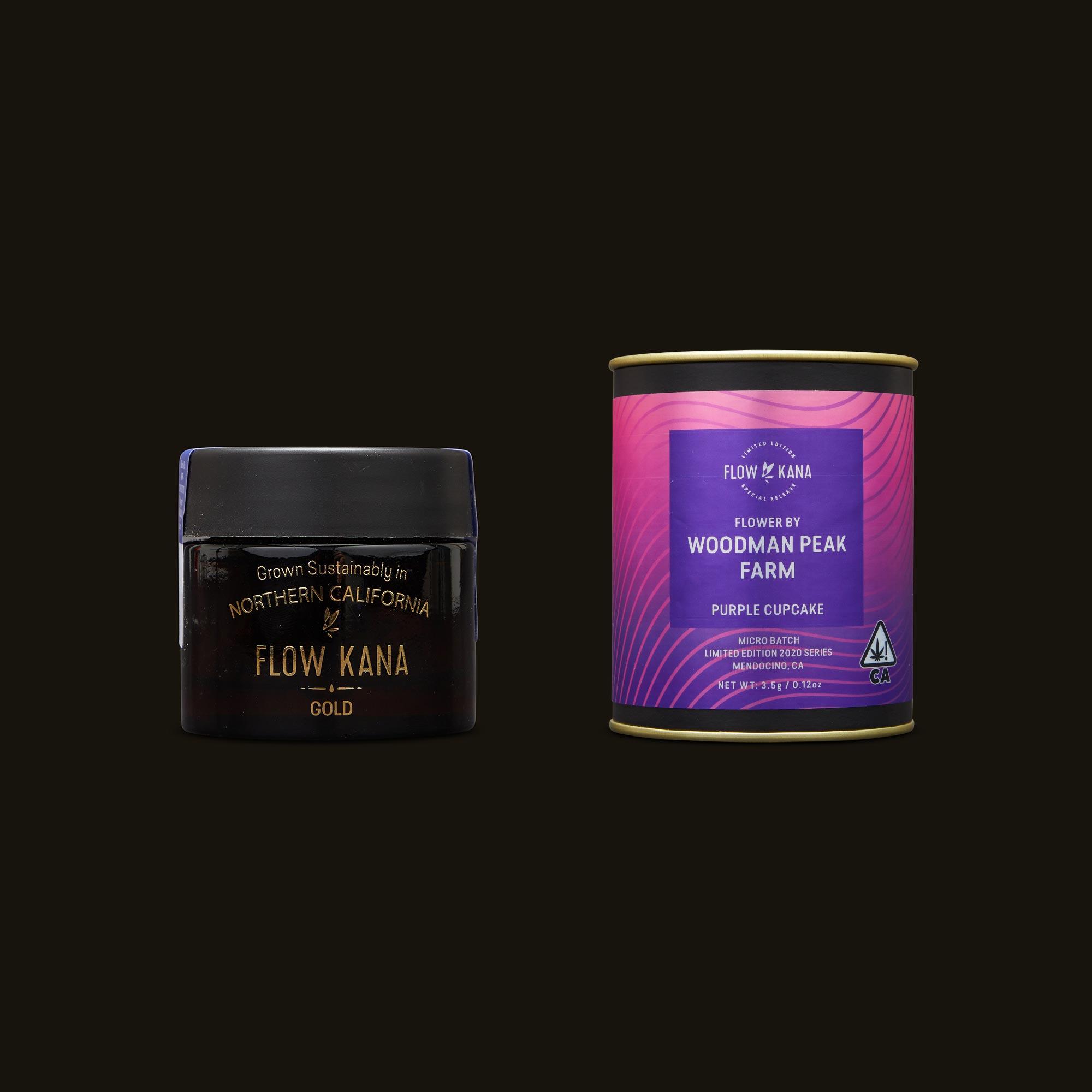 Flow Kana Purple Cupcake Jar and Packaging