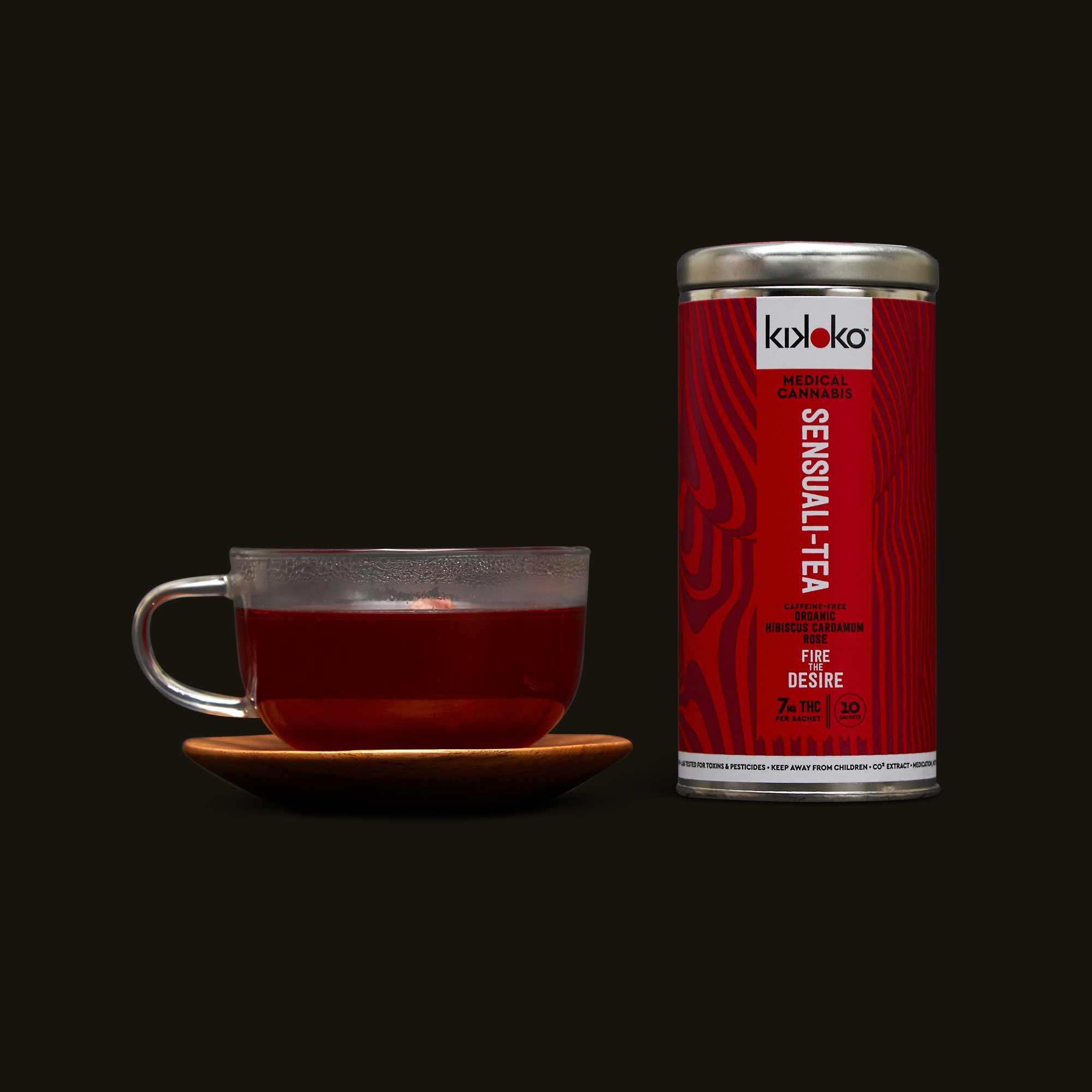 Glass cup of Kikoko Sensuali Tea