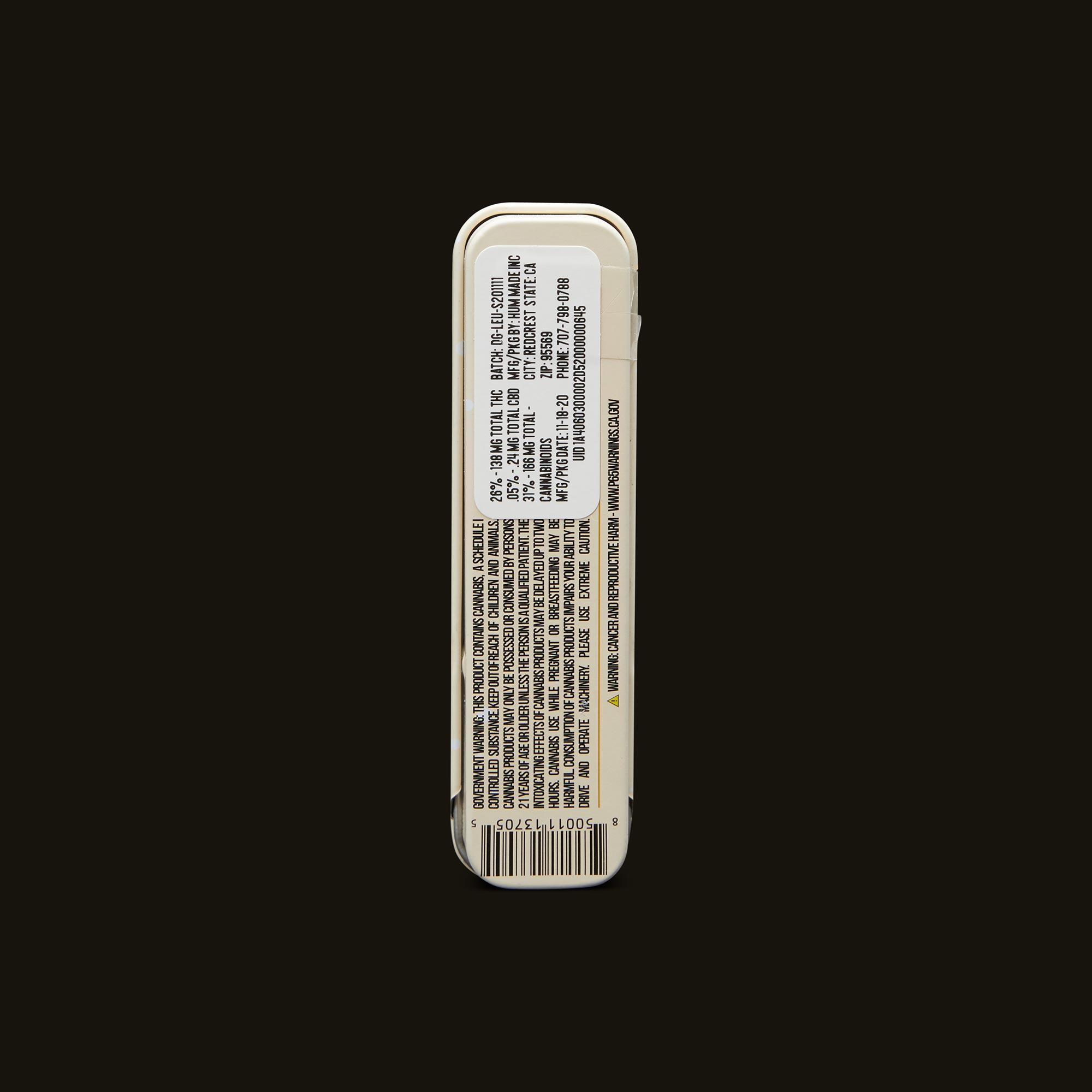 LEUNE Desert Gold Pre-Roll Back Packaging