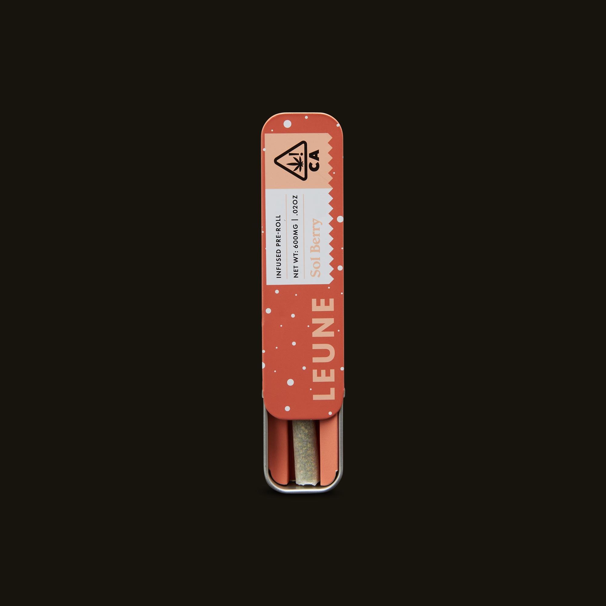LEUNE Sol Berry Pre-Roll Open Packaging