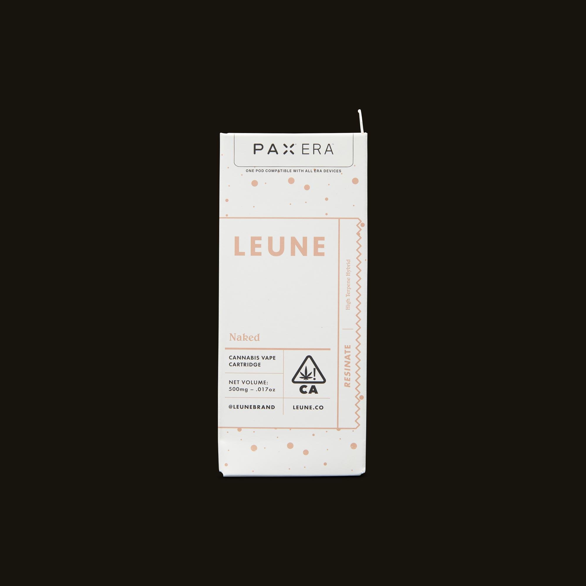 LEUNE Naked Tangie Live Resin PAX Era Pod Front Packaging