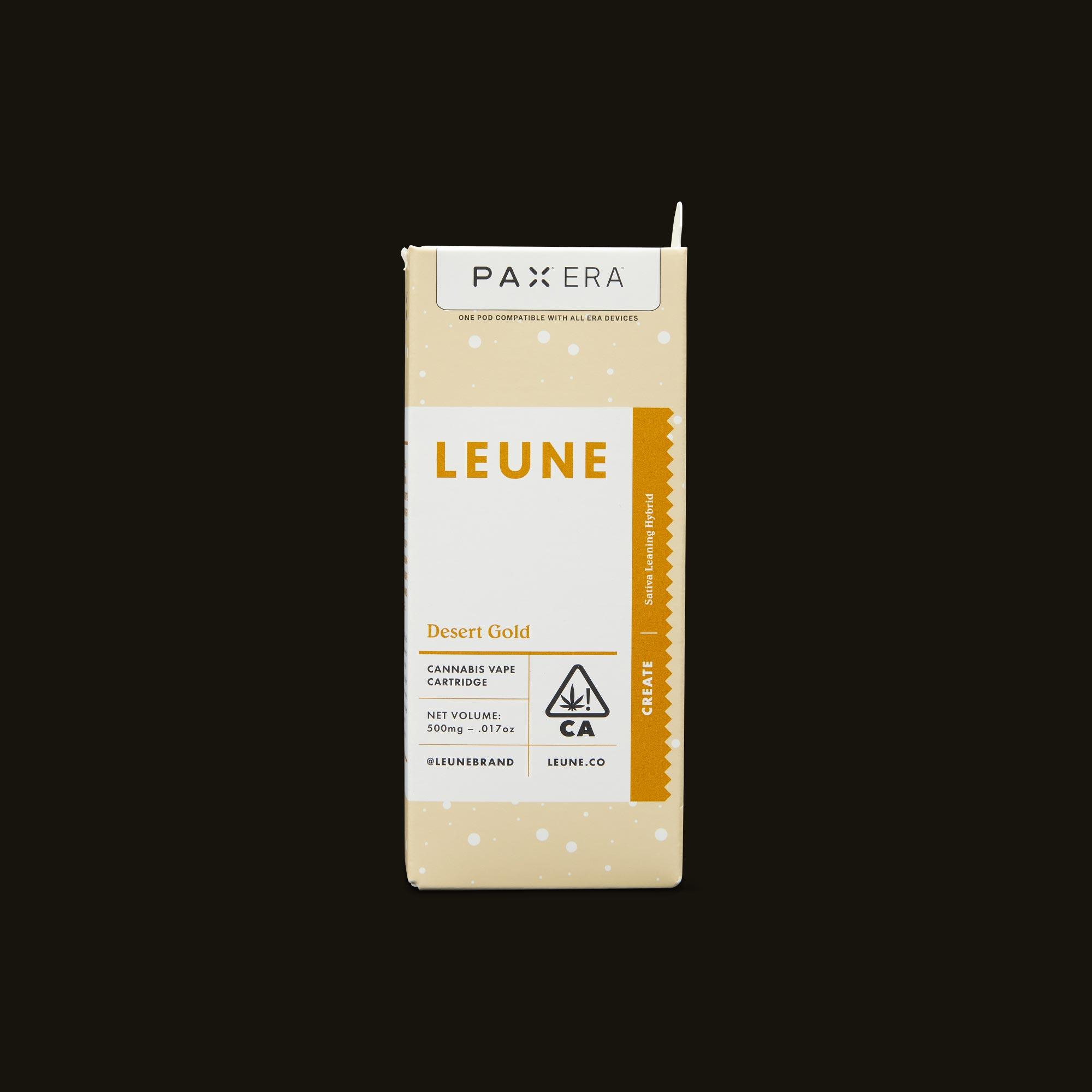LEUNE Desert Gold PAX Era Pod Front Packaging