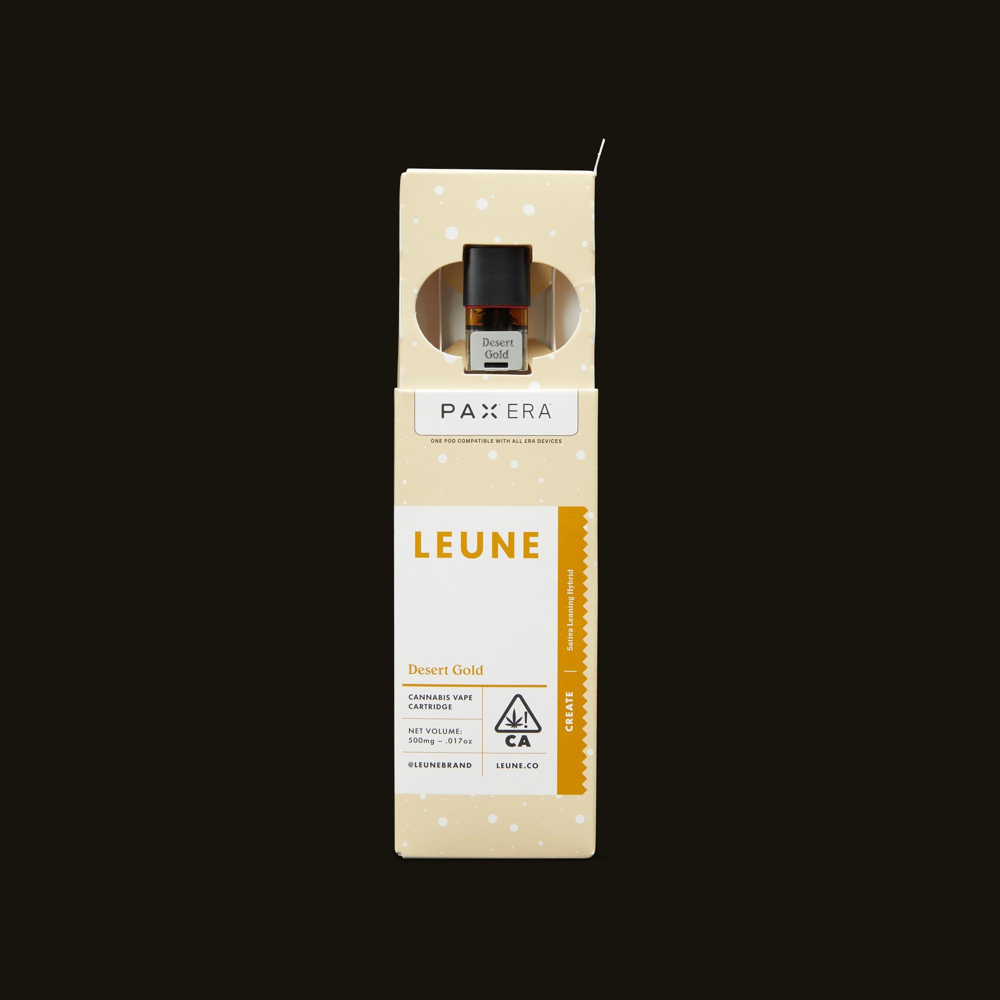 LEUNE Desert Gold PAX Era Pod Open Packaging