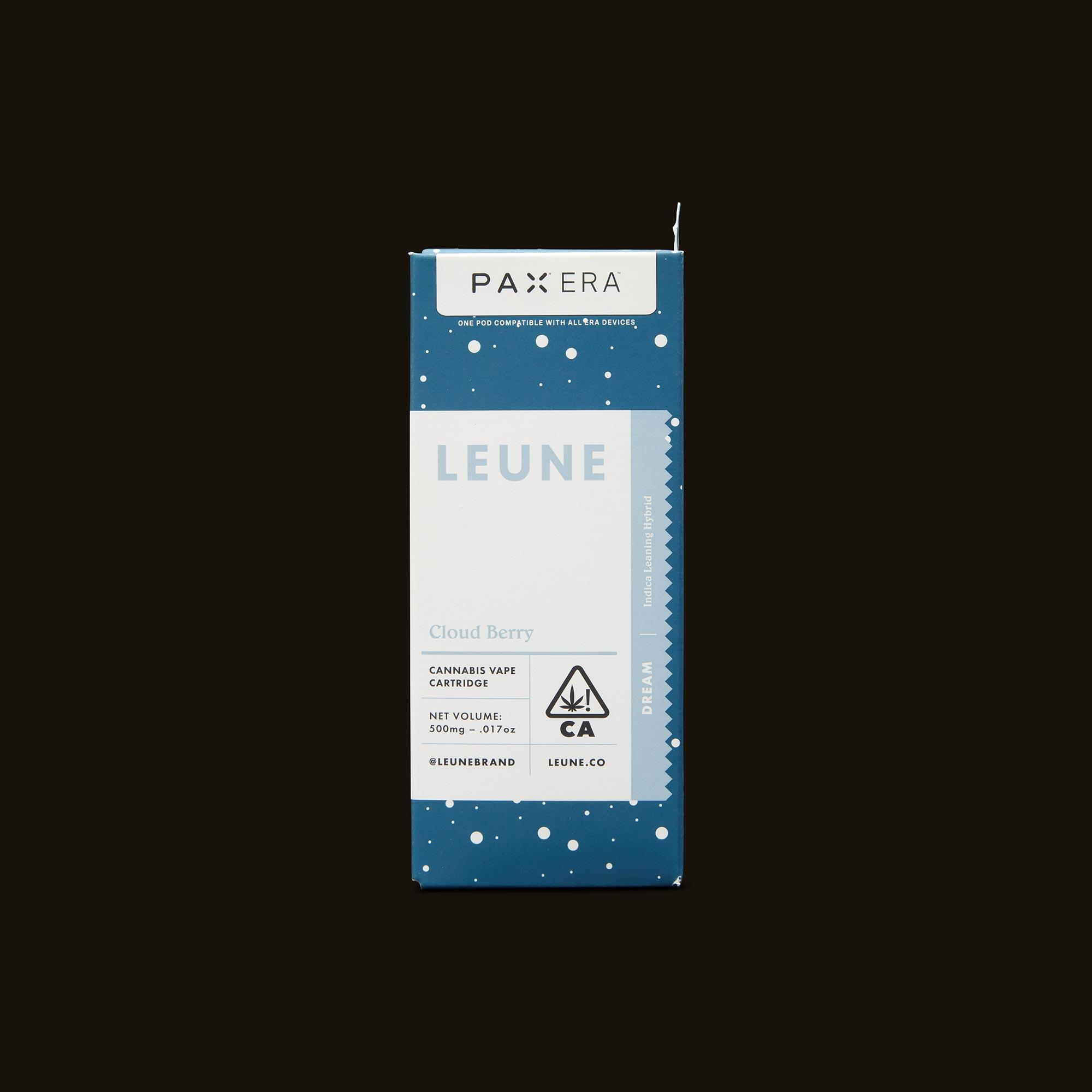 LEUNE Cloud Berry PAX Era Pod Front Packaging