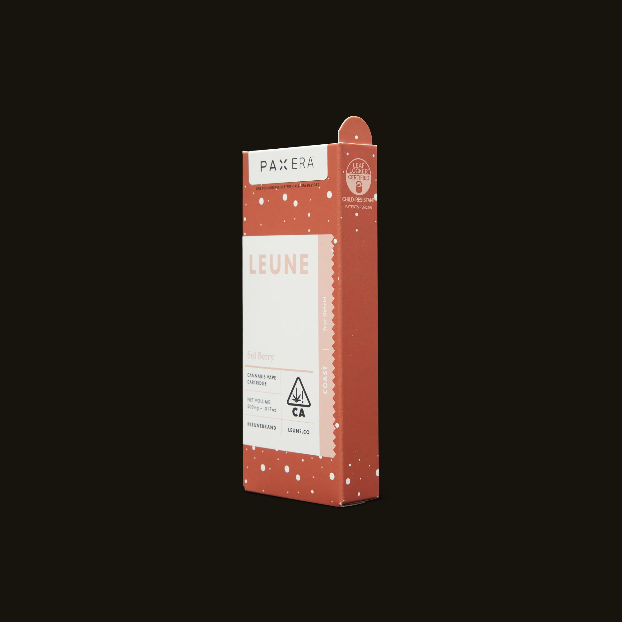 LEUNE Sol Berry PAX Era Pod Side Packaging